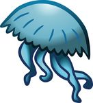 Free Clipart Of A Blue Jellyfish