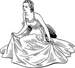 Free Clipart Of A Woman In A Dress