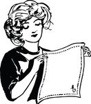 Free Clipart Of A Woman Holding A Napkin