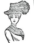 Free Clipart Of A Lady With A Plumed Hat