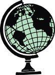 Free Clipart Of A Desk Globe