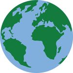 Free Clipart Of A Blue And Green Earth