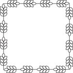 Free Clipart Of A Square Border Of Barley