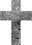 Free Clipart Of A Thumb Print Cross