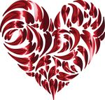 Free Clipart Of A Heart Made Of Shiny Red Hearts