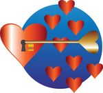 Free Clipart Of A Key And Hearts