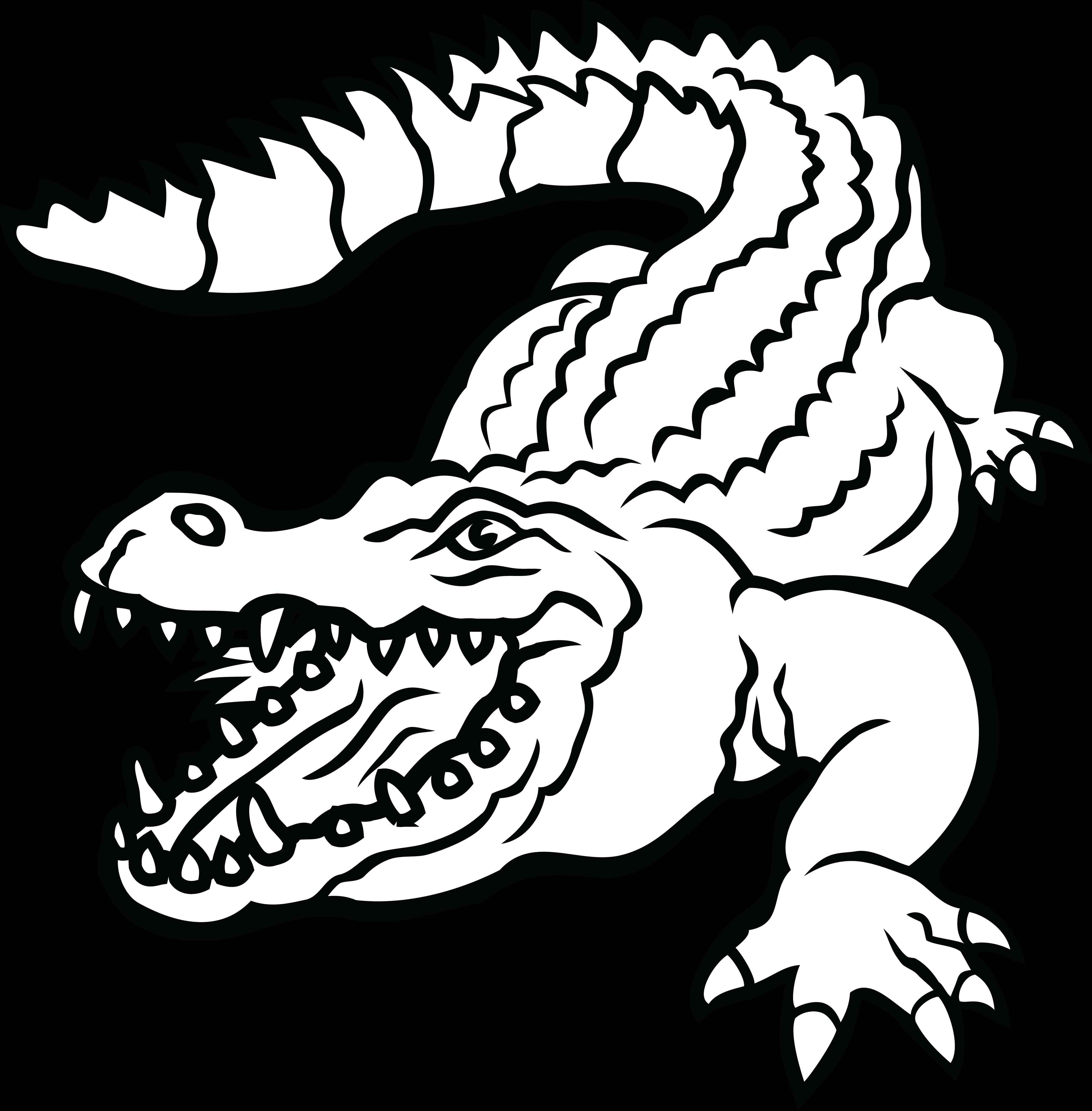 free clipart of a crocodile rh free clipartof com Lizard Clip Art Black and White Alagator Clip Art Black and White