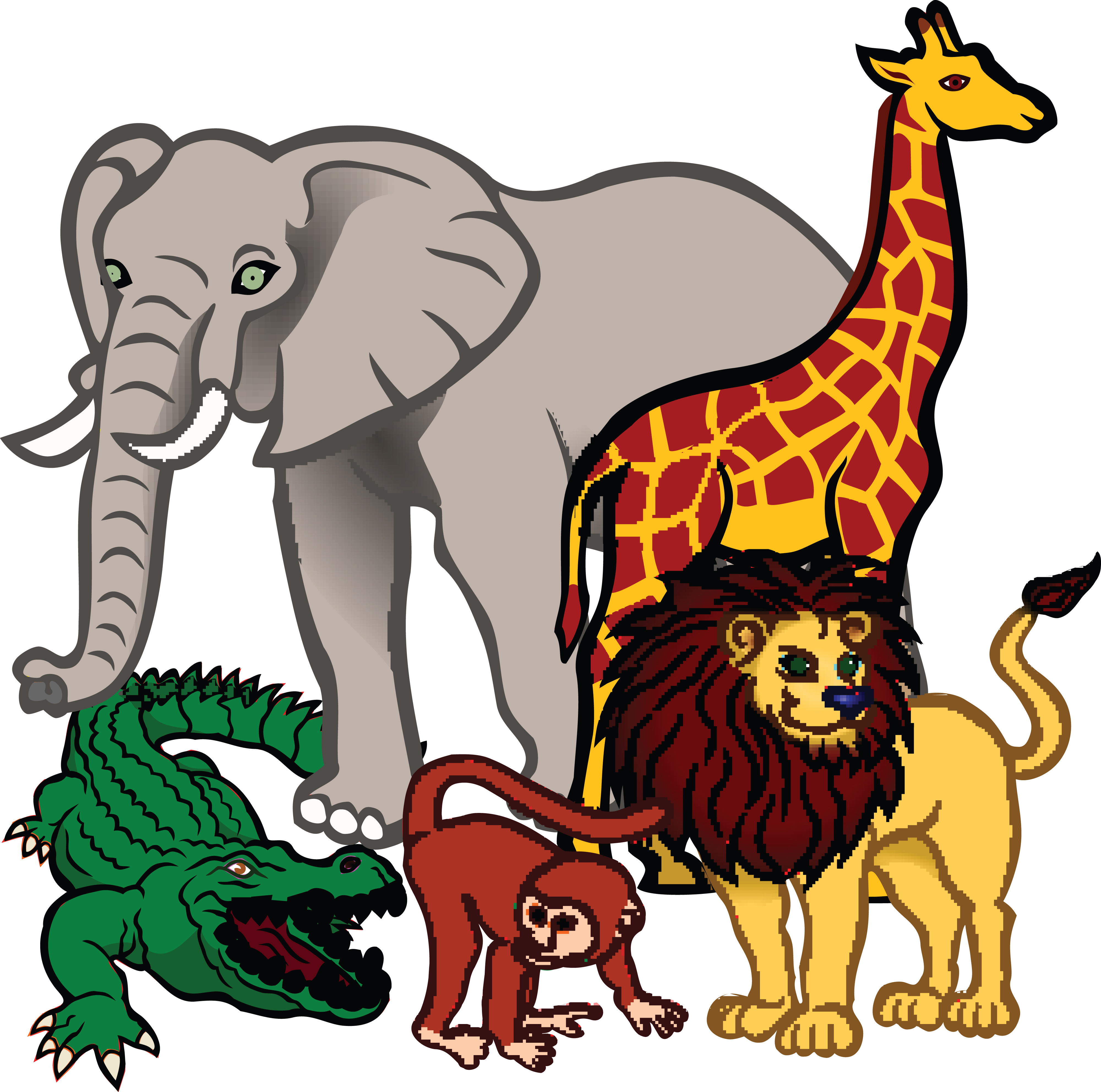 free clipart of african animals rh free clipartof com wildlife clipart wildlife clip art to copy