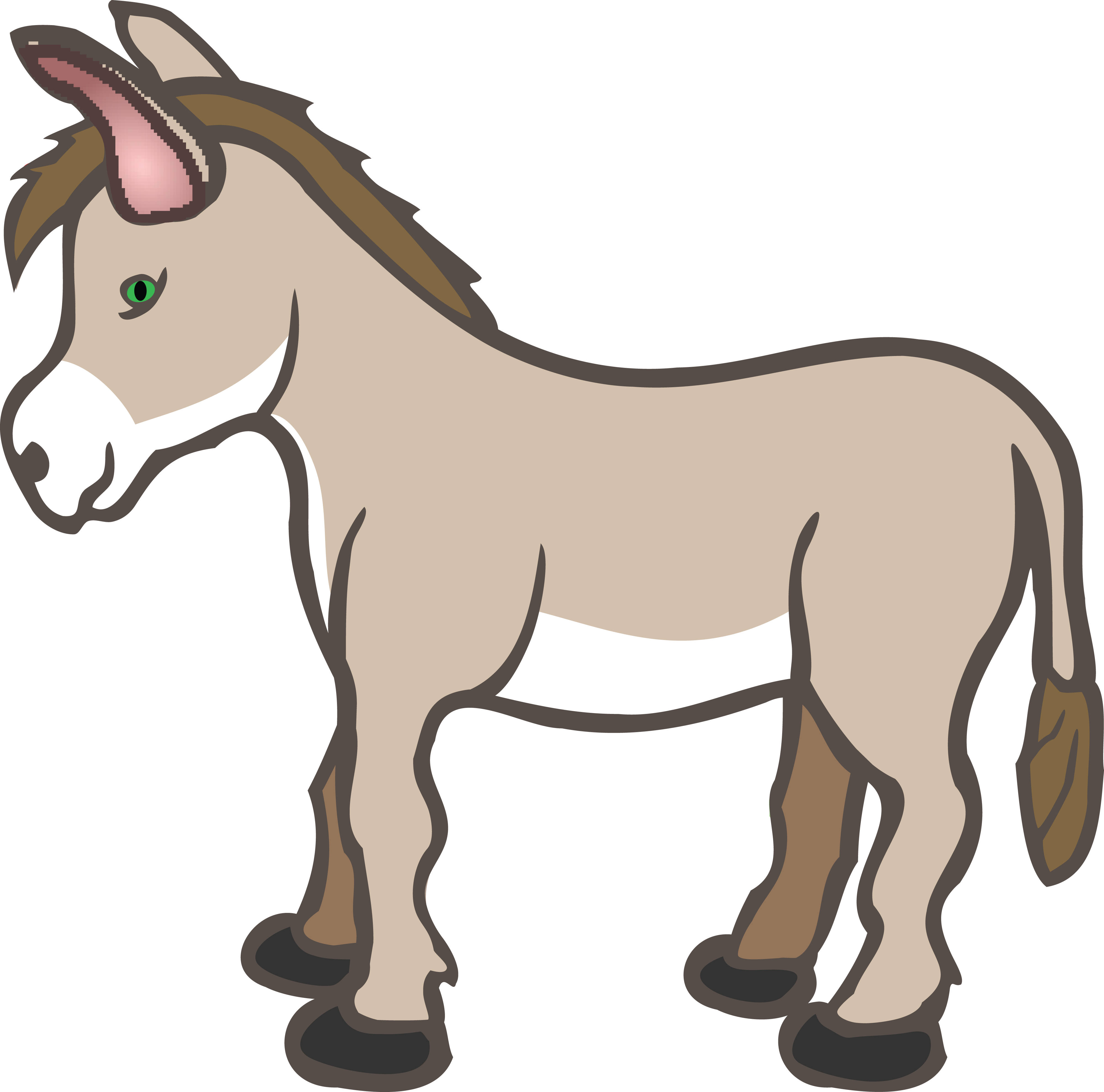 free clipart of a donkey rh free clipartof com donkey clip art pictures donkey clipart black and white
