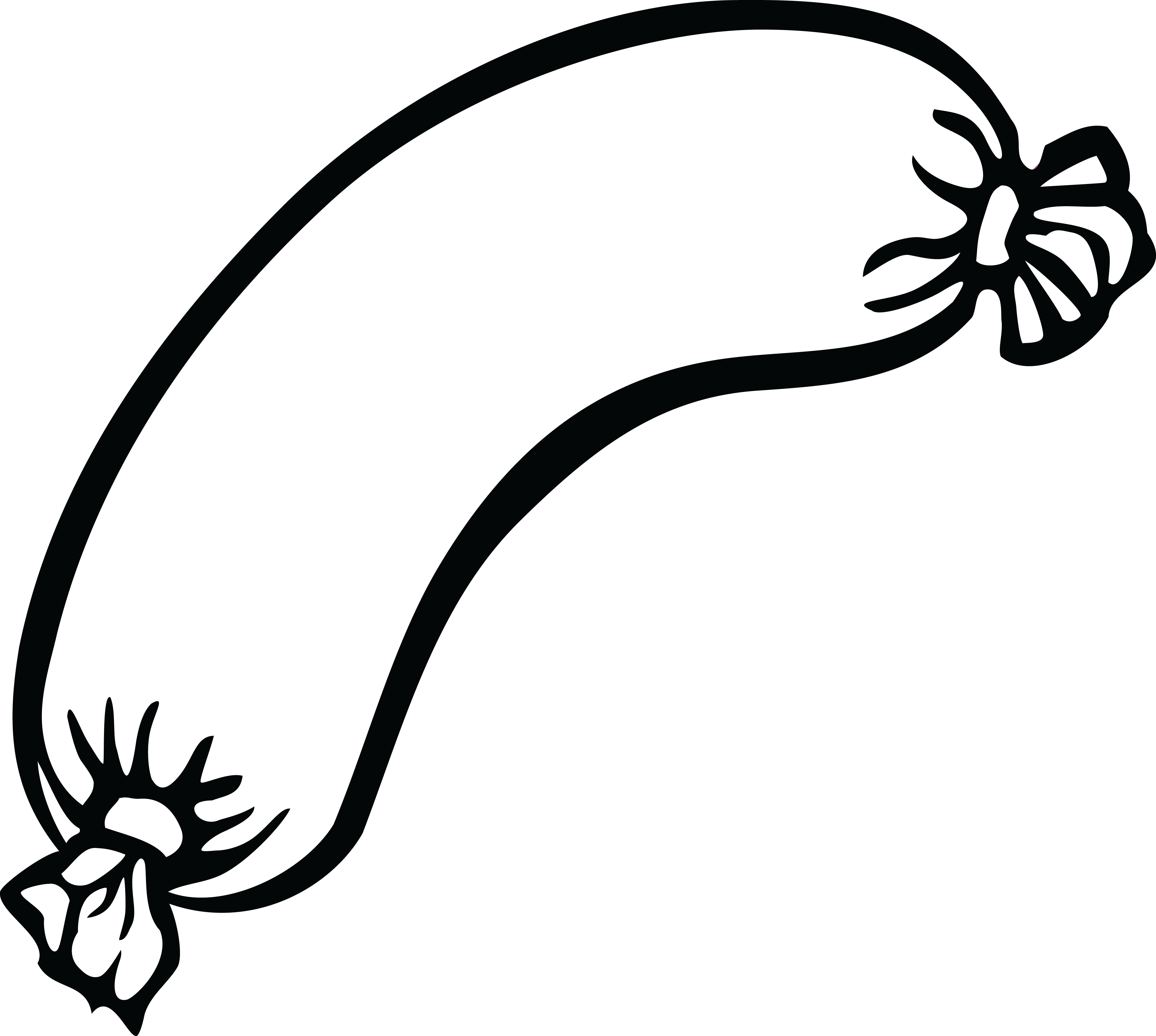 Jpg To Line Drawing : Free clipart of a sausage