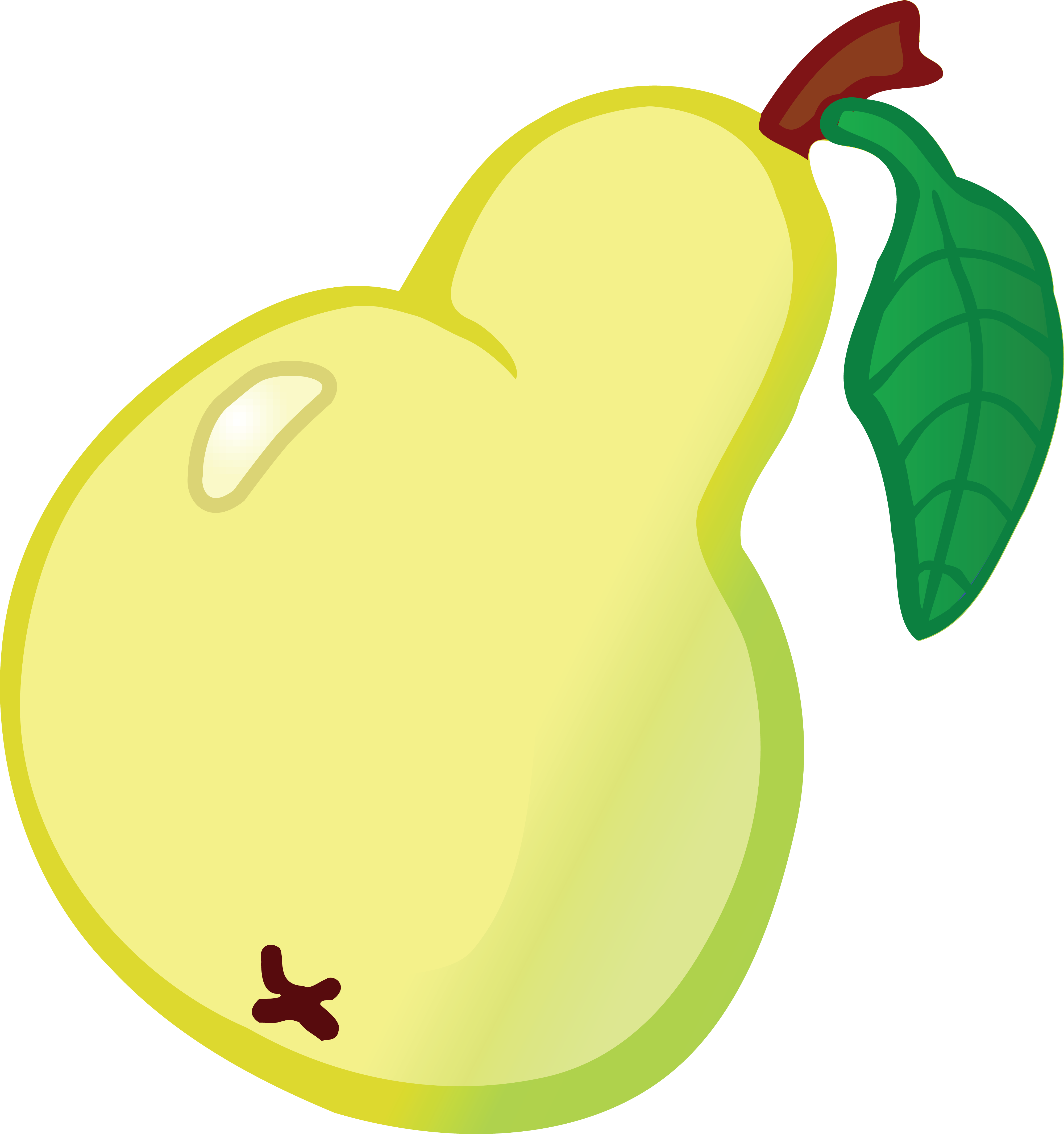 Free Clipart Of A Pear
