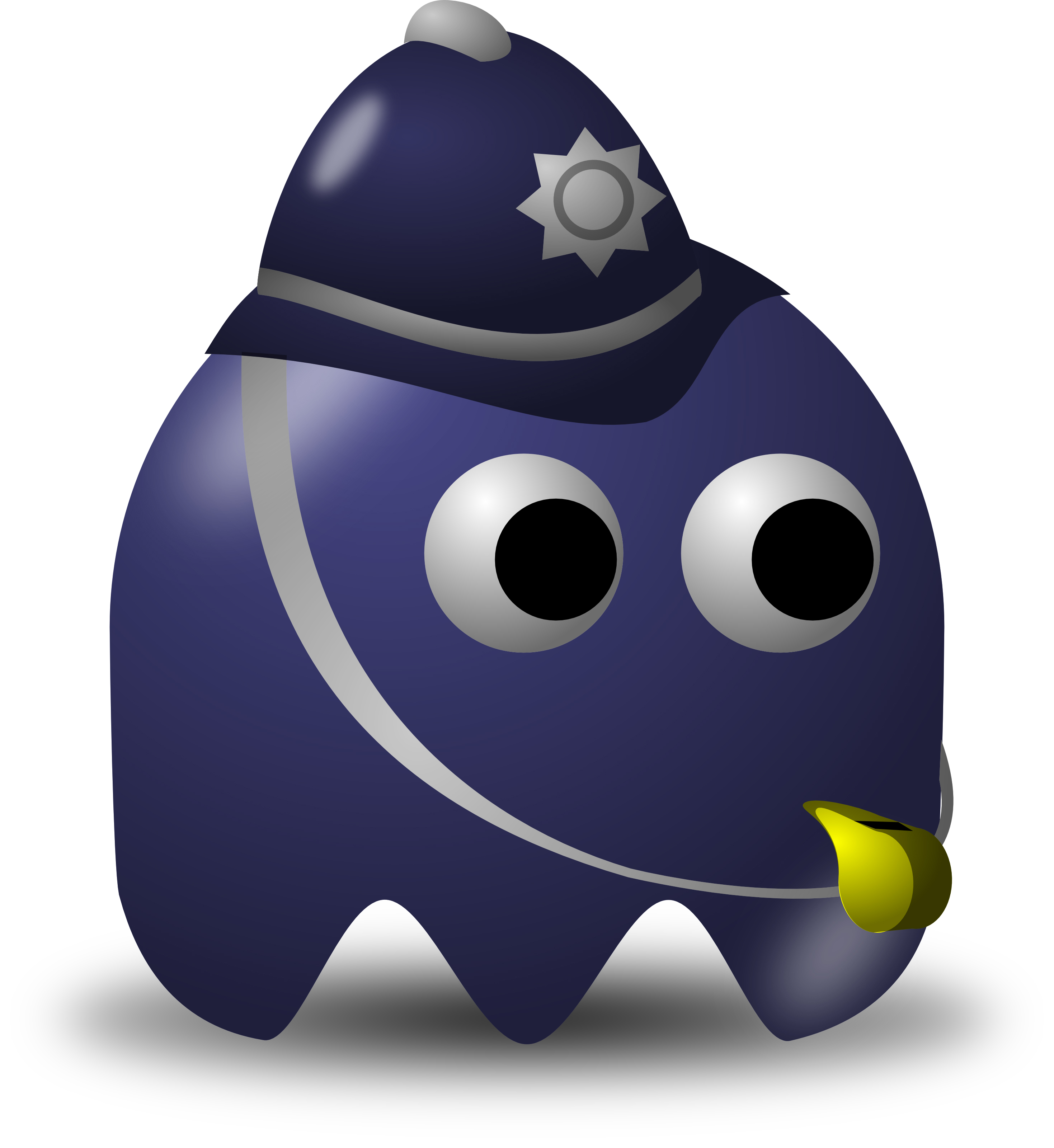 Policeman Avatar Character With A Whistle Free Vector
