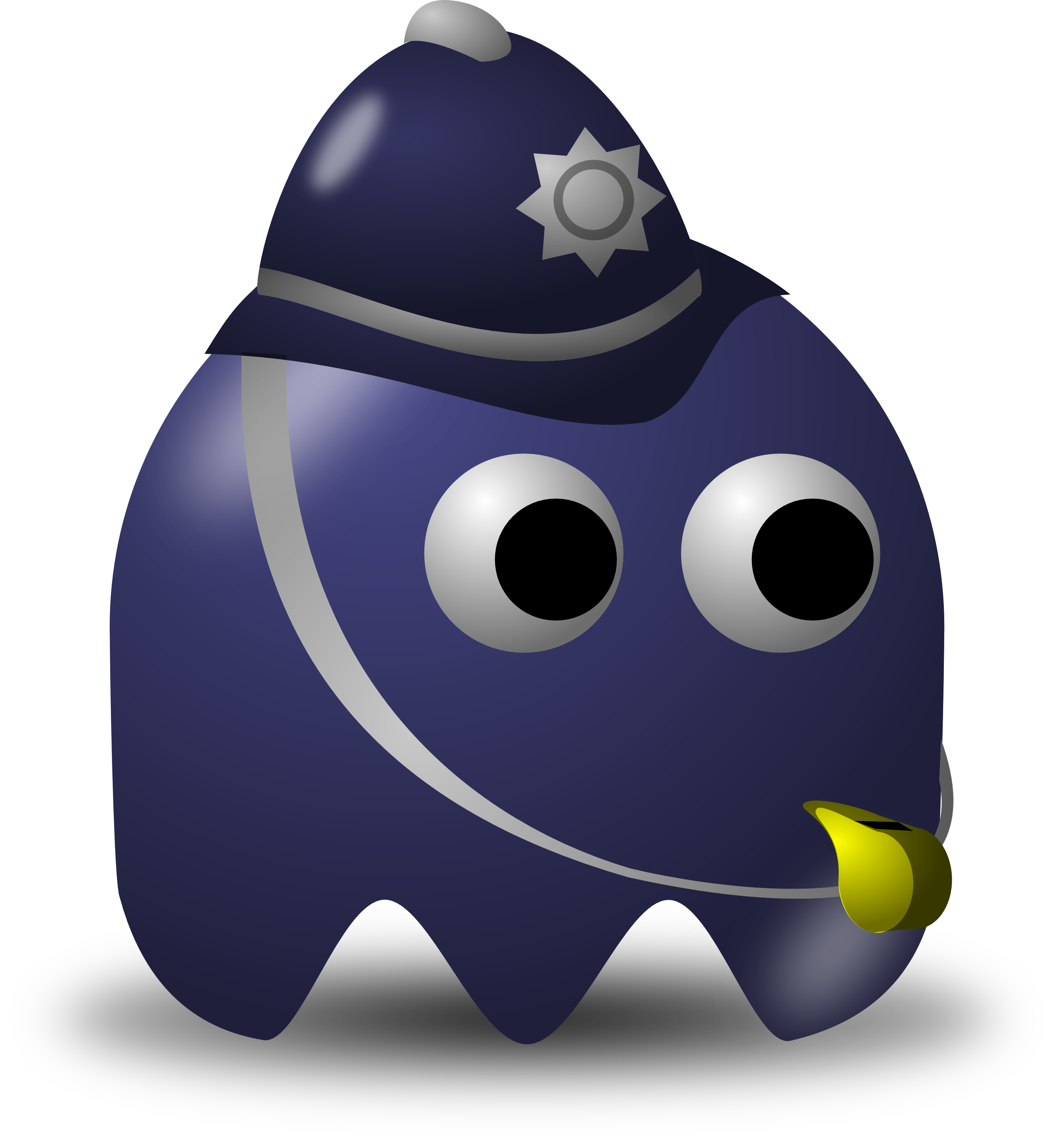 Policeman Avatar Character With A Whistle - Free Vector Clipart ...