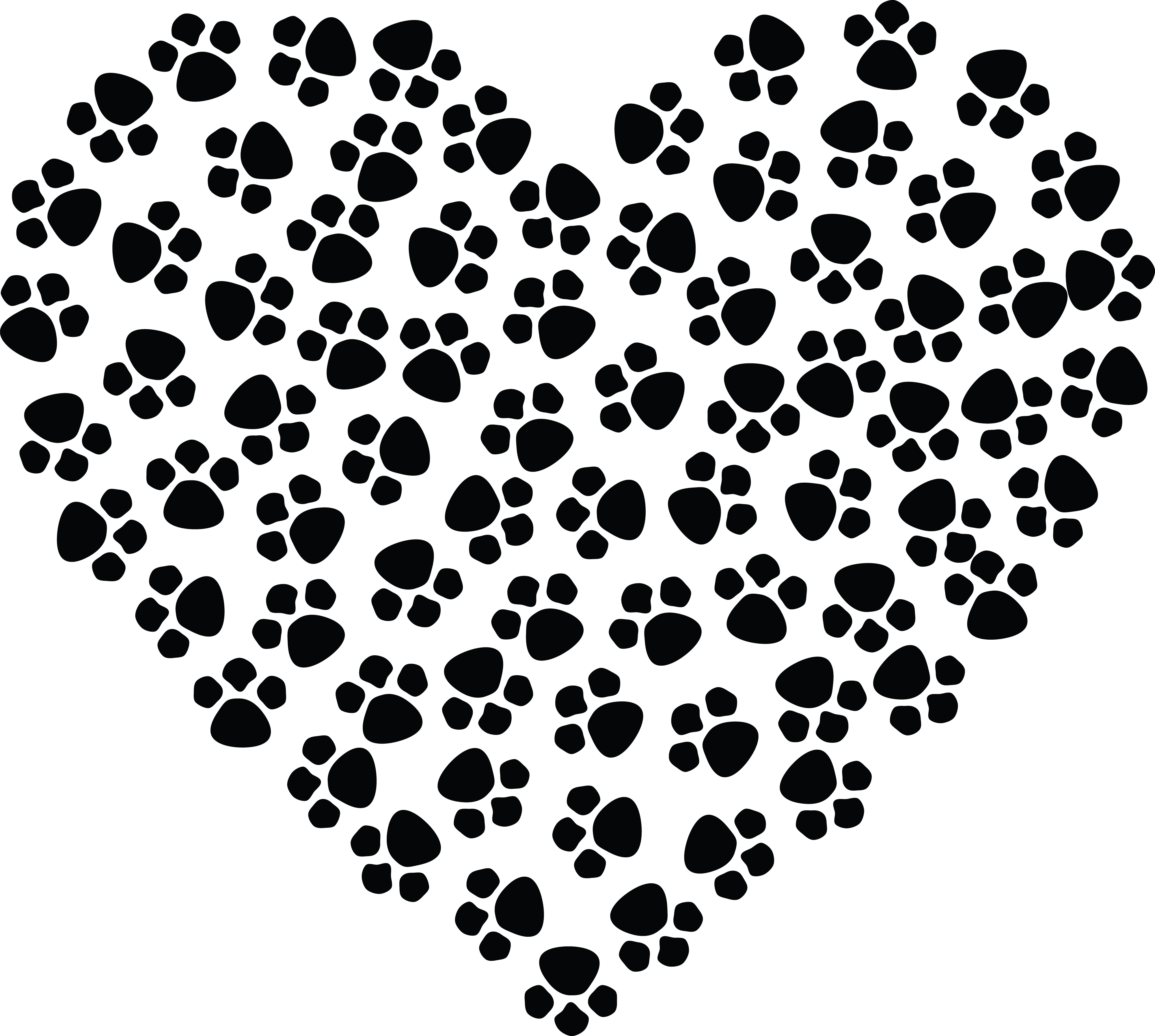 free clipart of a paw print heart rh free clipartof com clip art paw prints dogs paw print clipart free