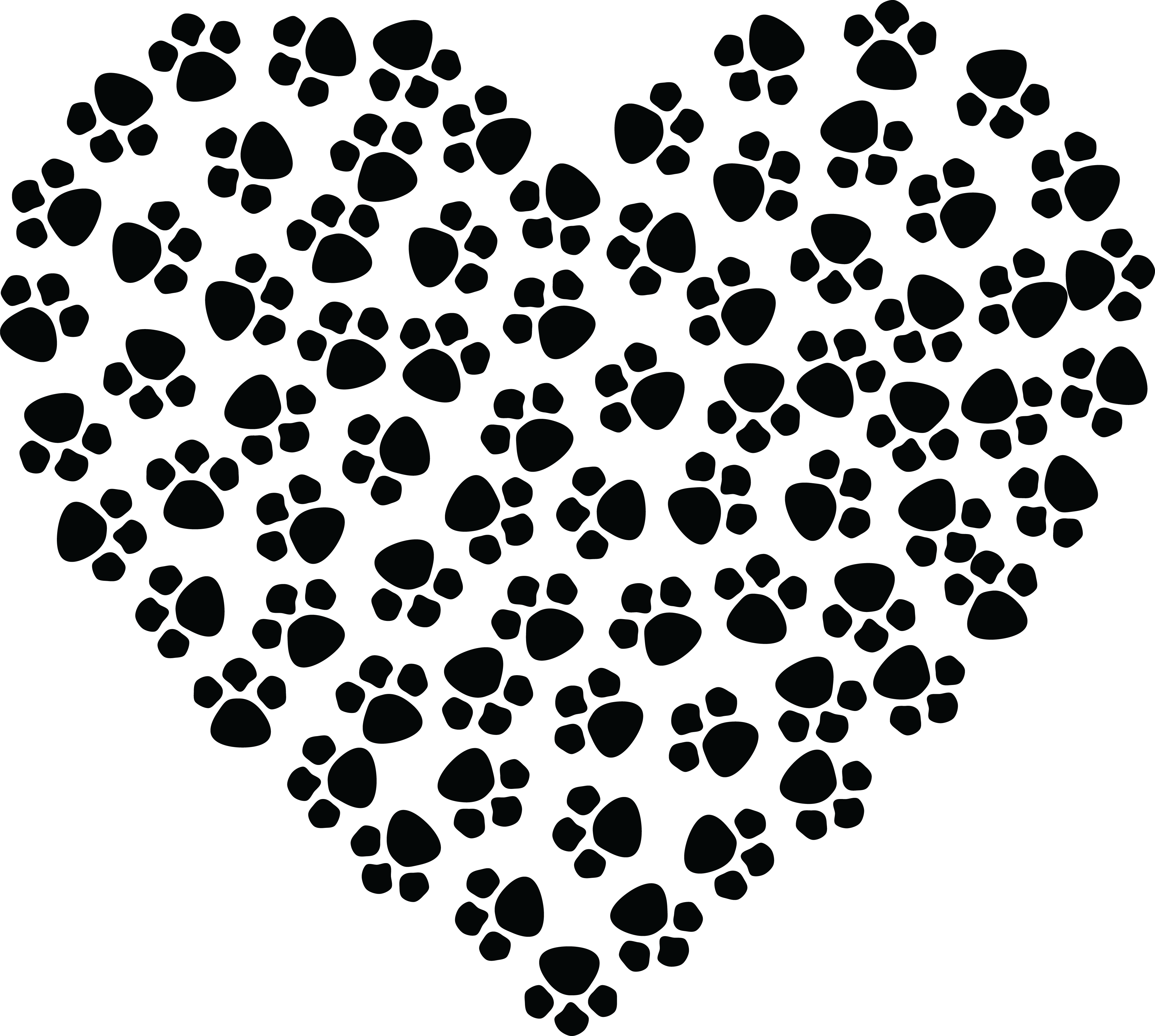 free clipart of a paw print heart rh free clipartof com paw print clip art borders paw print clip art black and white
