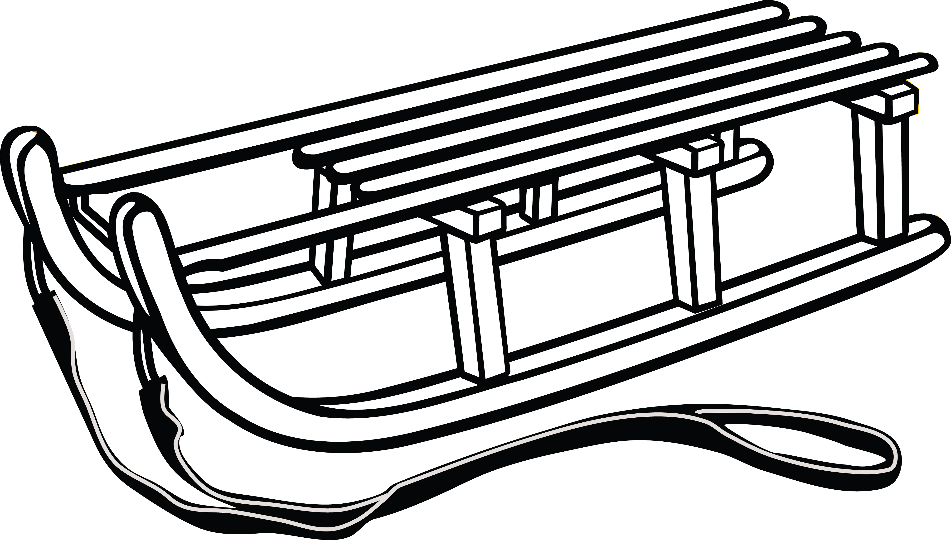 Free Clipart Of A Luge