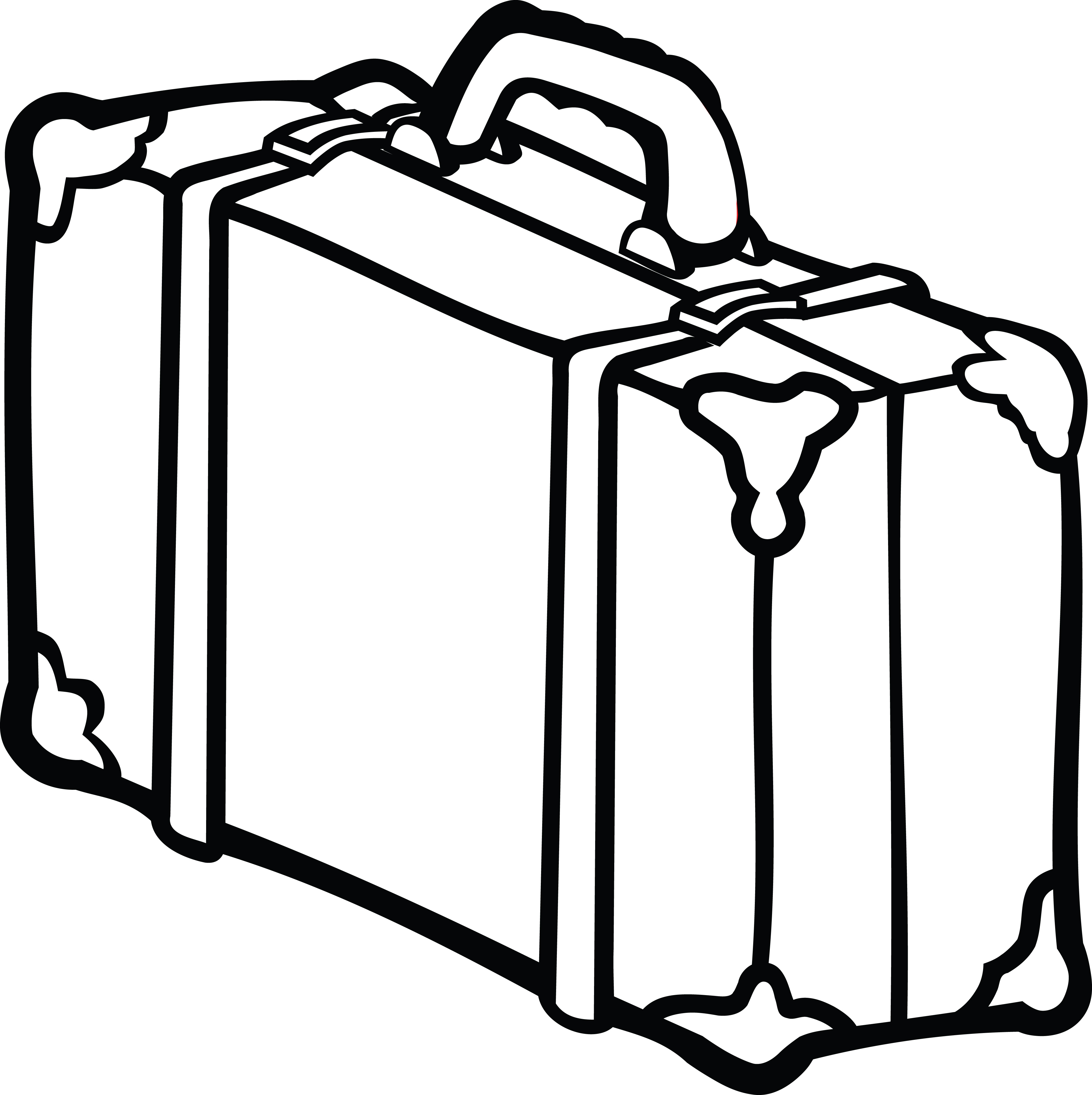free clipart of a suitcase rh free clipartof com suitcase clipart blue suitcase clip art black and white