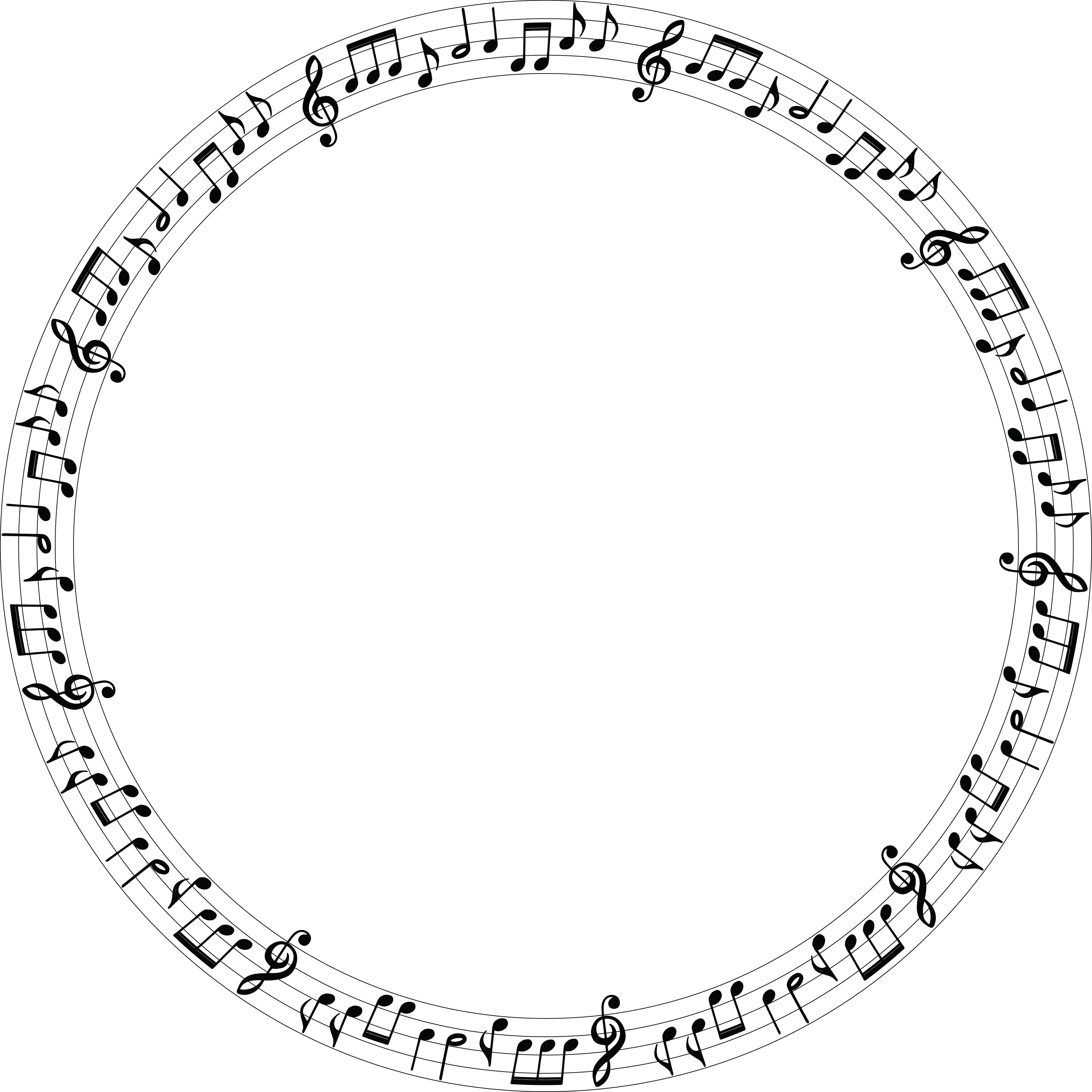 Free Clipart Of A music note frame
