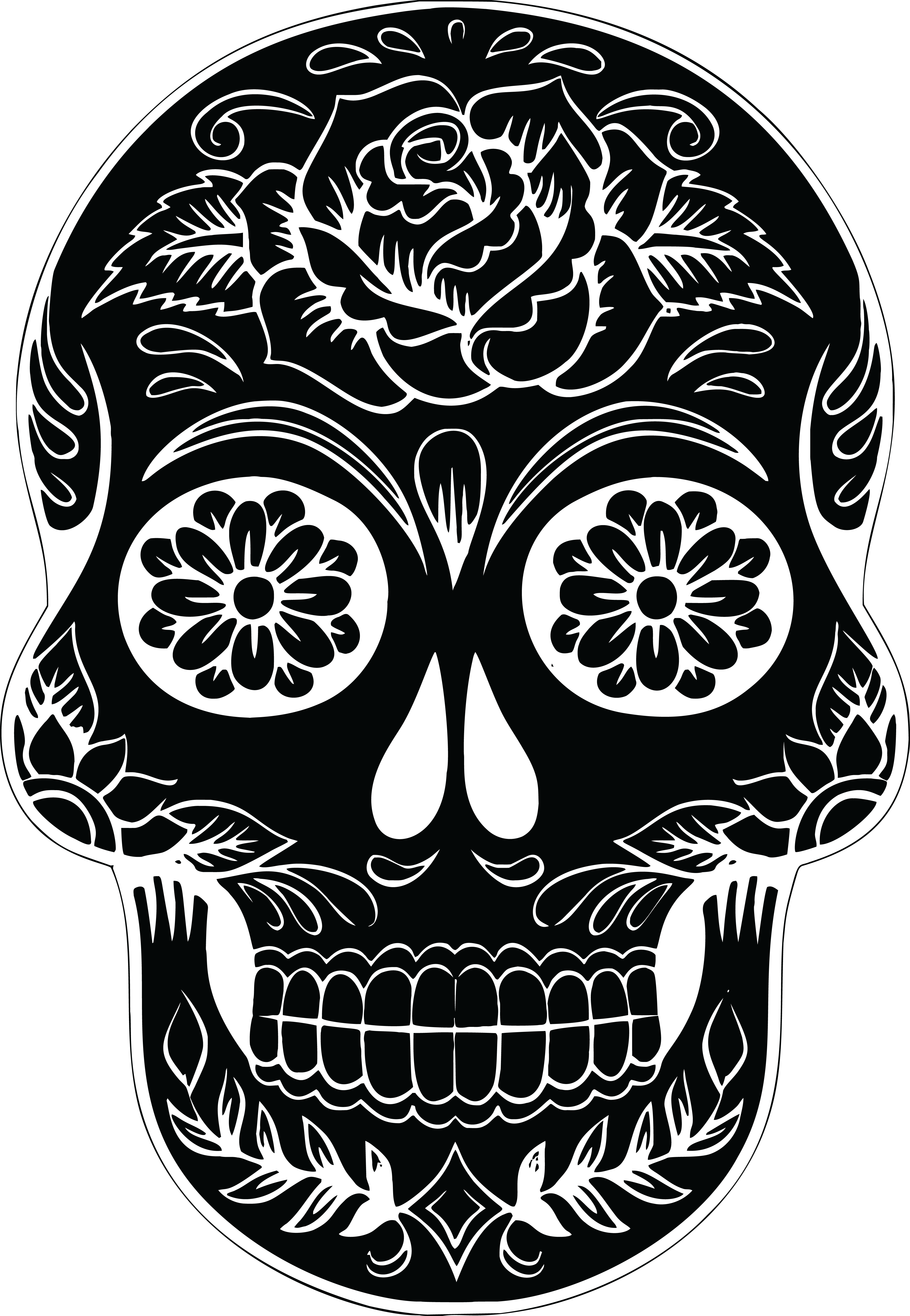 foto de Free Clipart Of A sugar skull