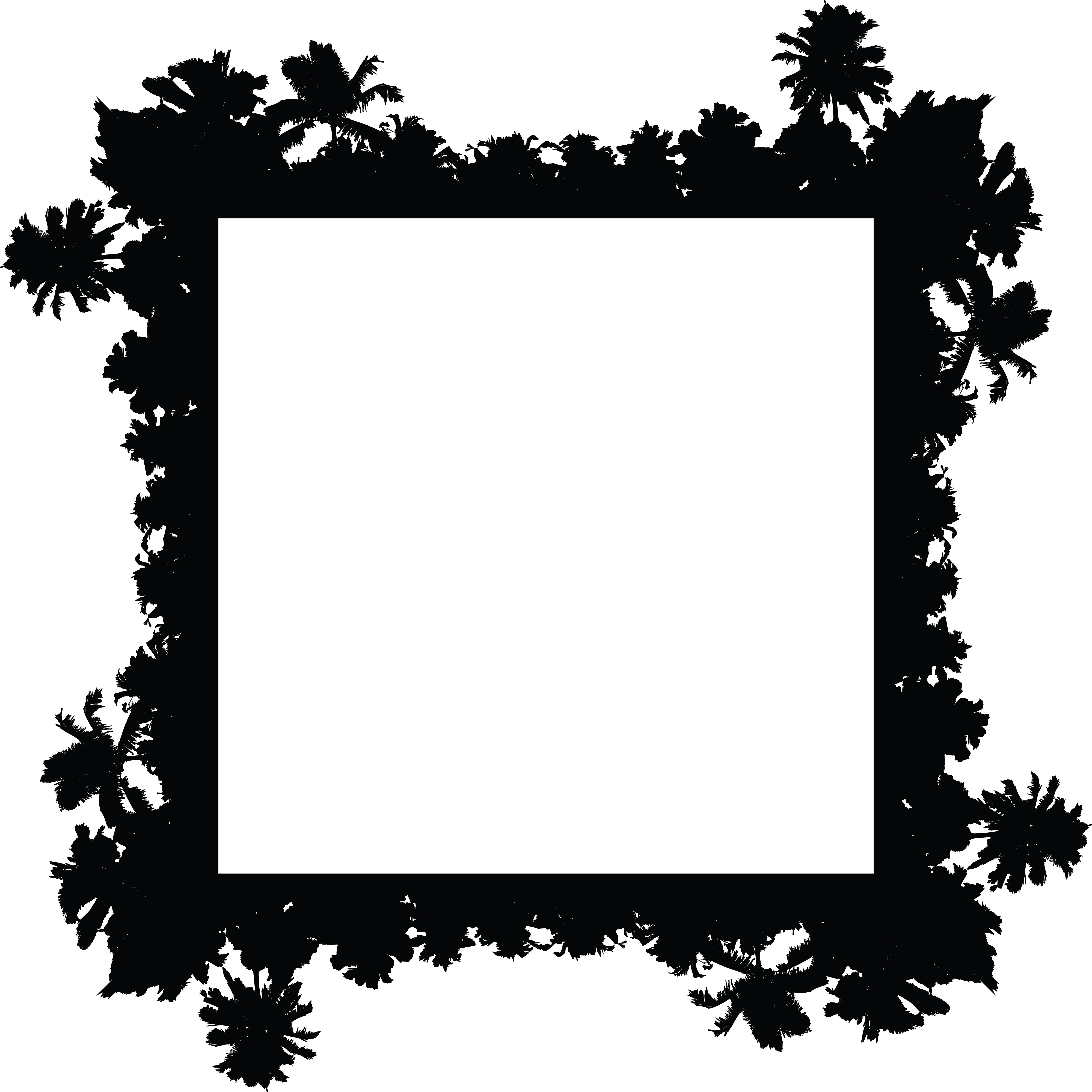 free clipart of a palm tree border rh free clipartof com Hawaiian Palm Trees Clip Art Palm Tree Outline Clip Art