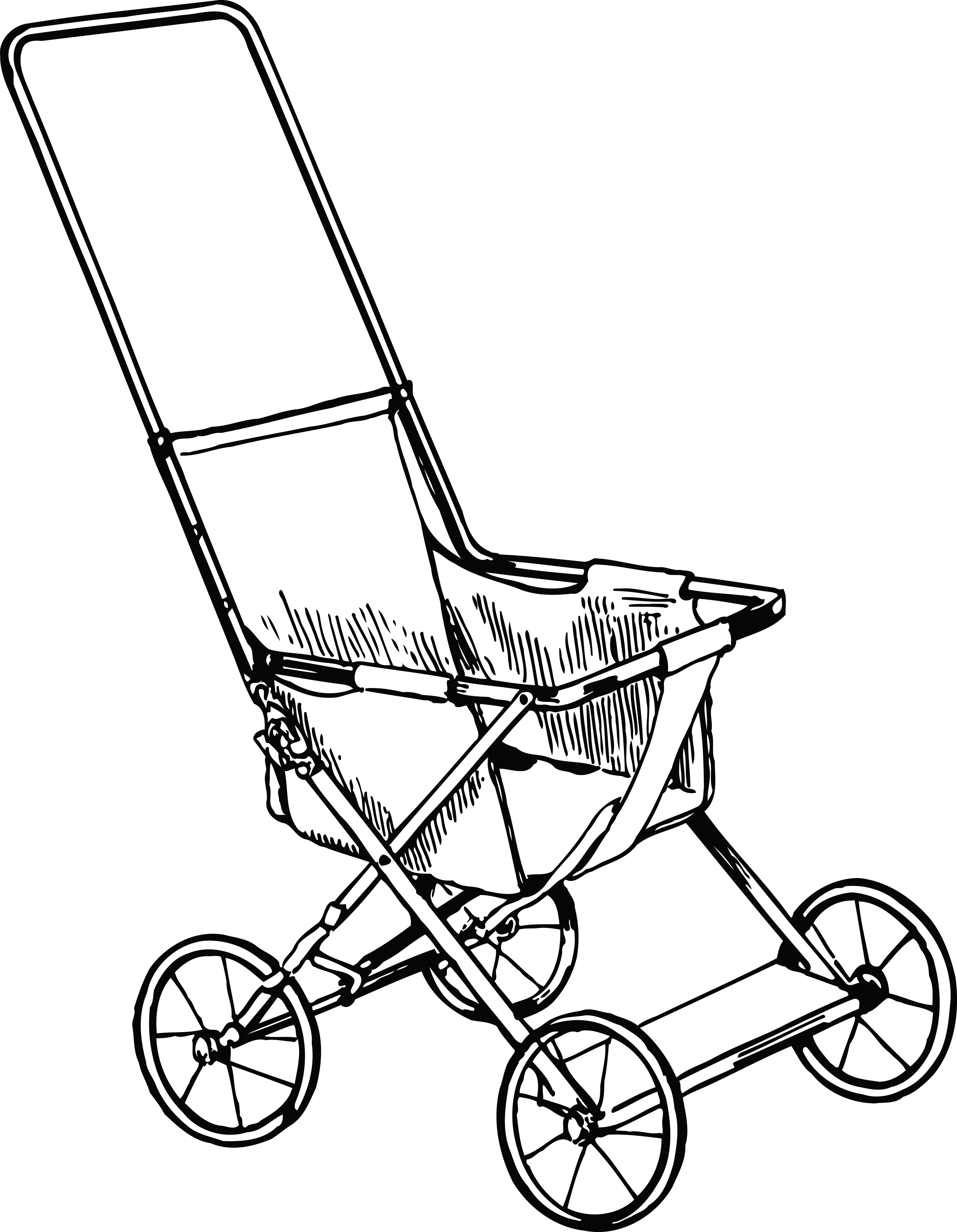 free clipart of a baby stroller rh free clipartof com baby pram clipart free baby stroller clipart free