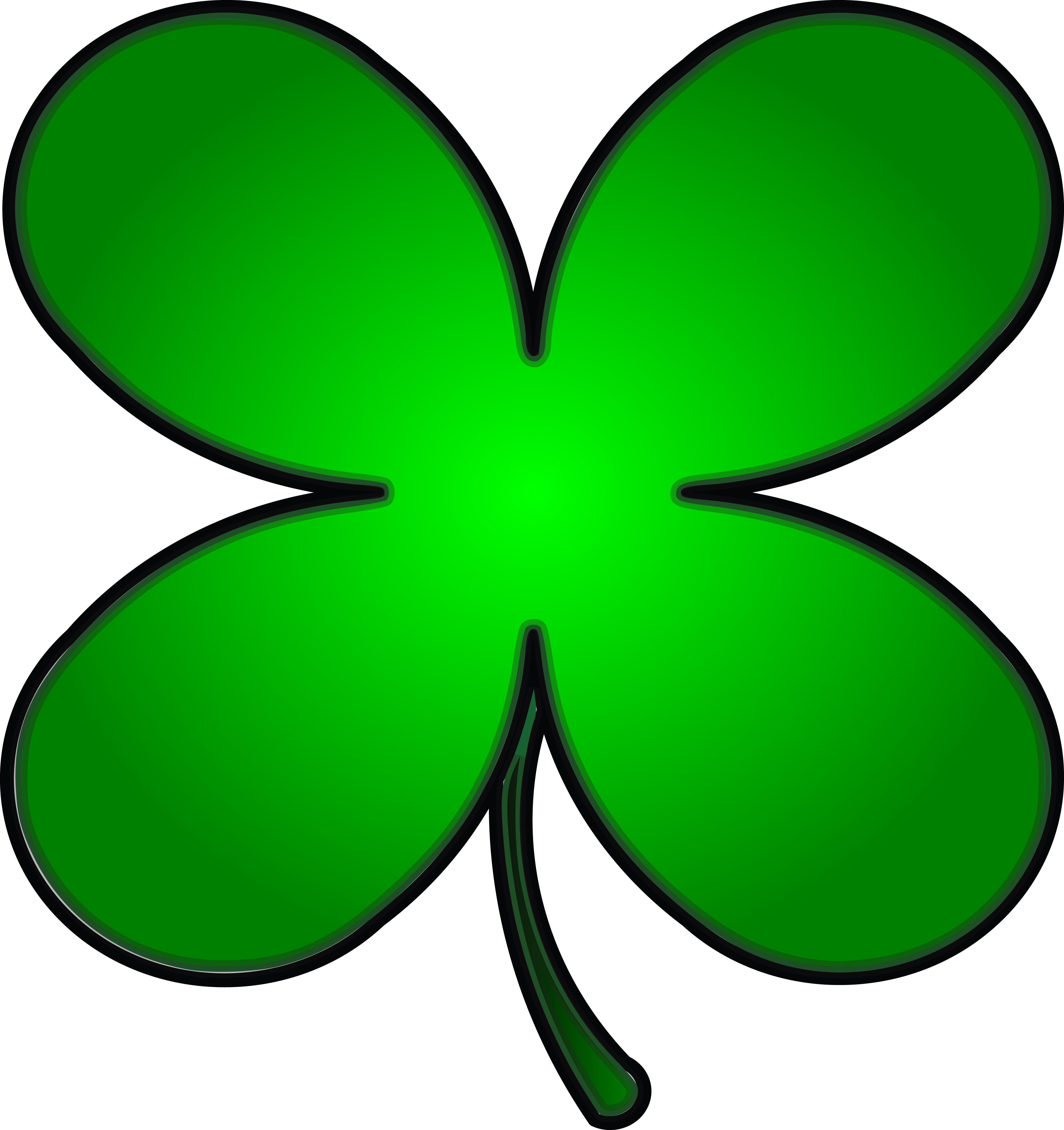 Clipart Of A Gradient Green St Paddys Day Shamrock Clover