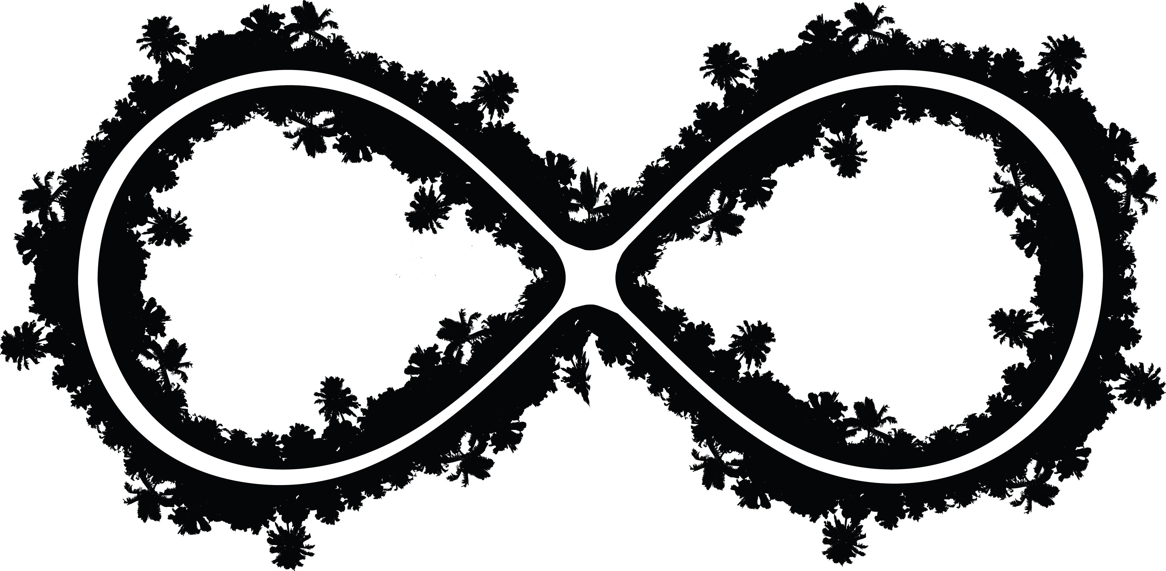 Free Clipart Of A Palm Tree Infinity Symbol