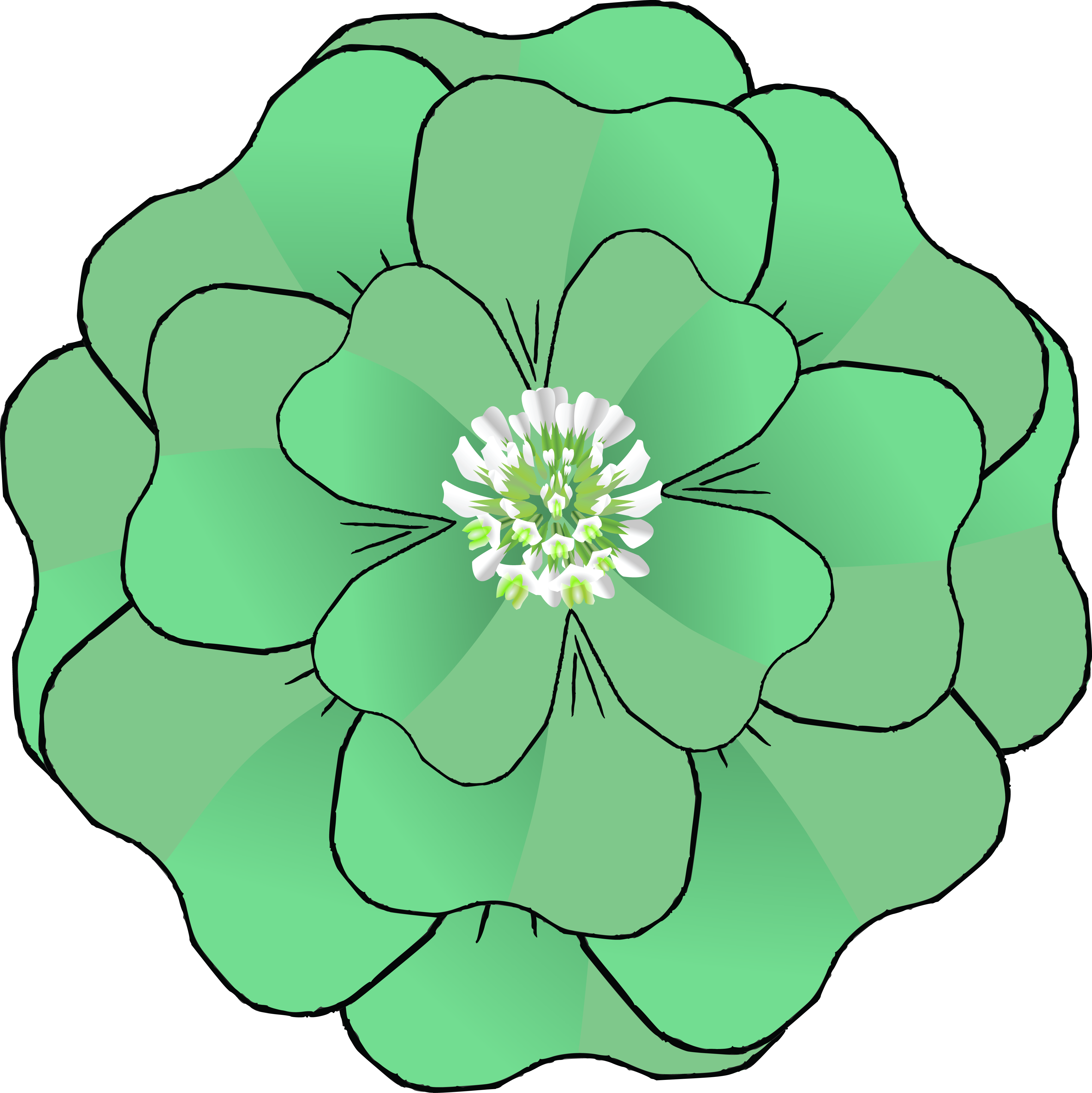 Free Clipart Of A St Patricks Day Green Four Leaf Clover ...