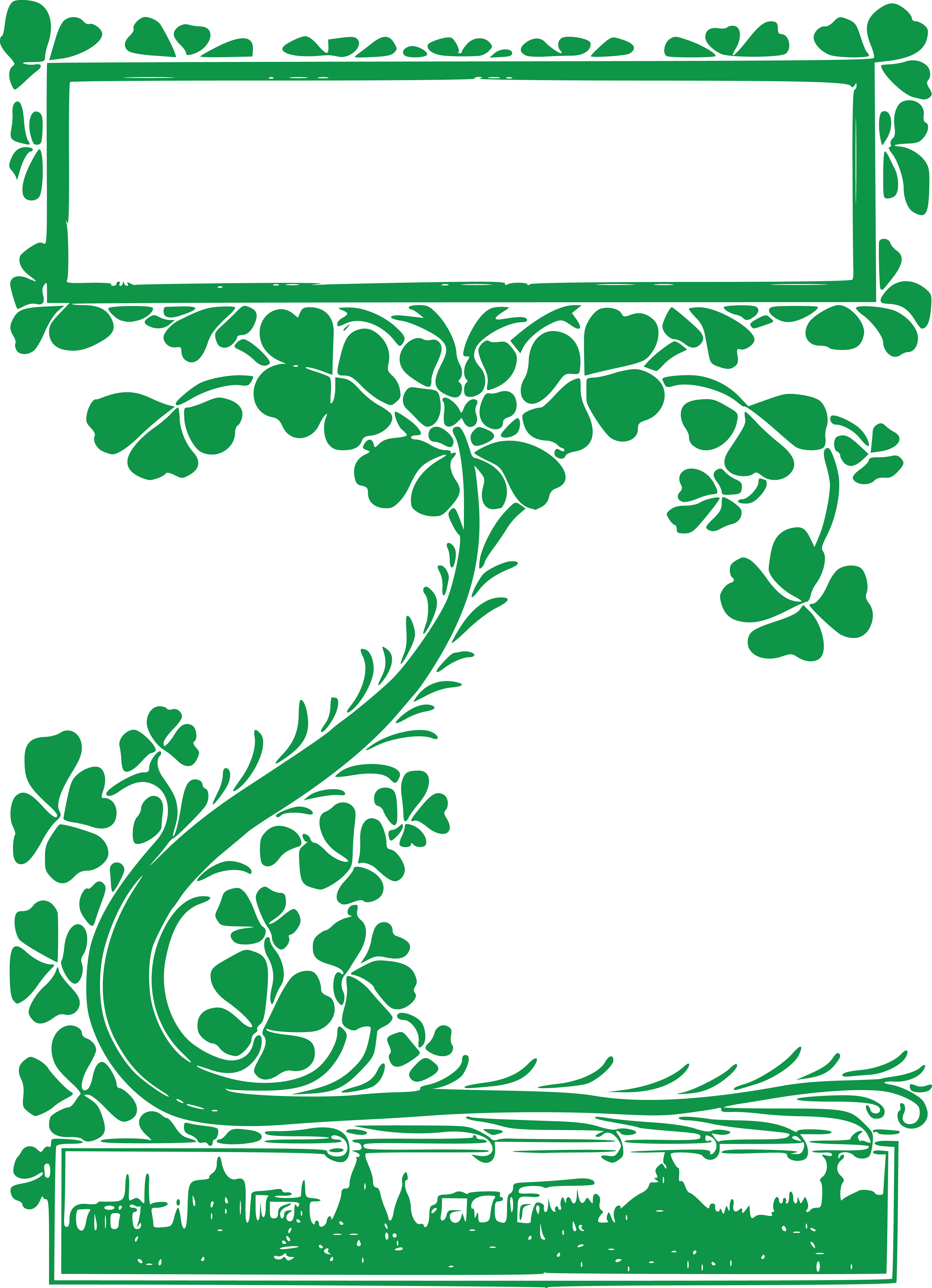 clipart of a st patricks day vintage retro clover shamrock vine