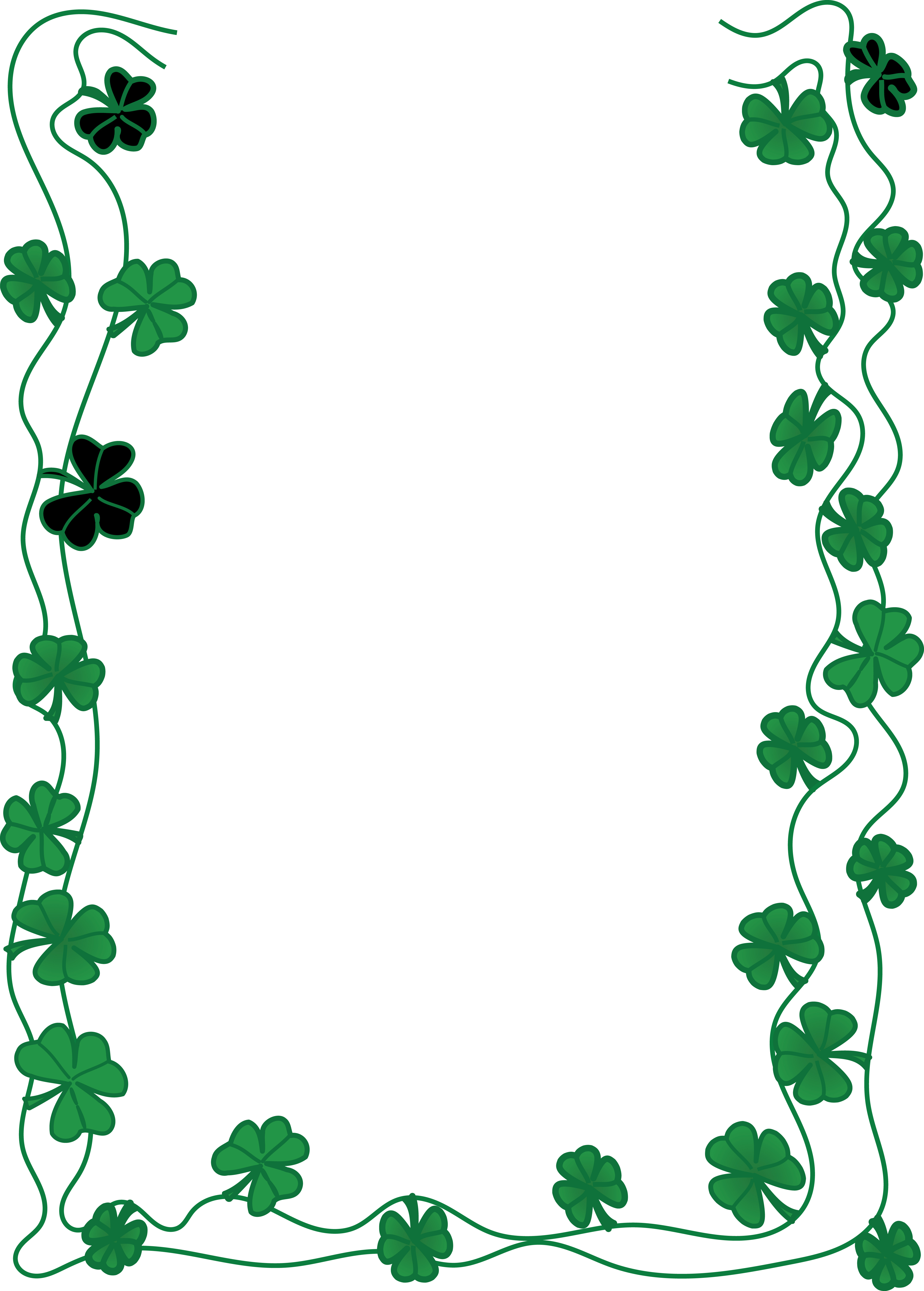 free clipart of a st patricks day shamrock clover border shamrock clip art labels shamrock clipart printables