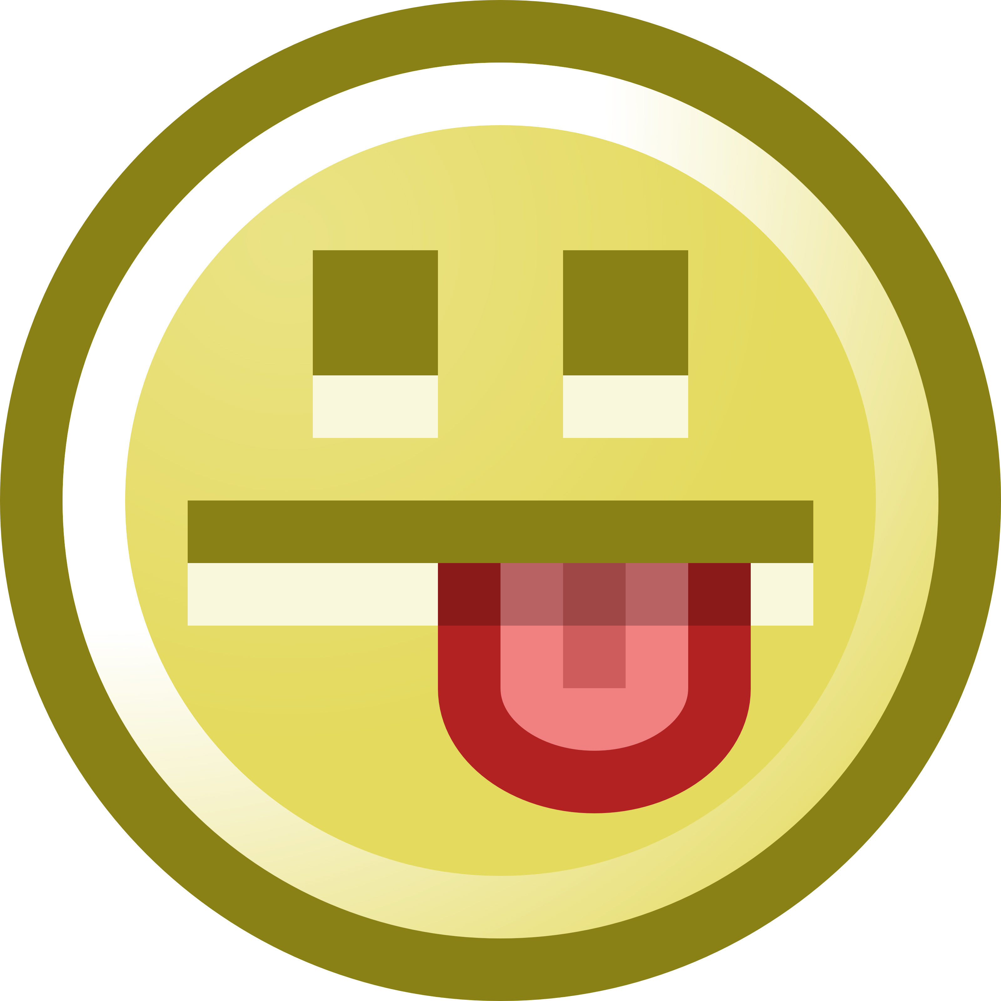 free smiley face sticking tongue out clip art illustration