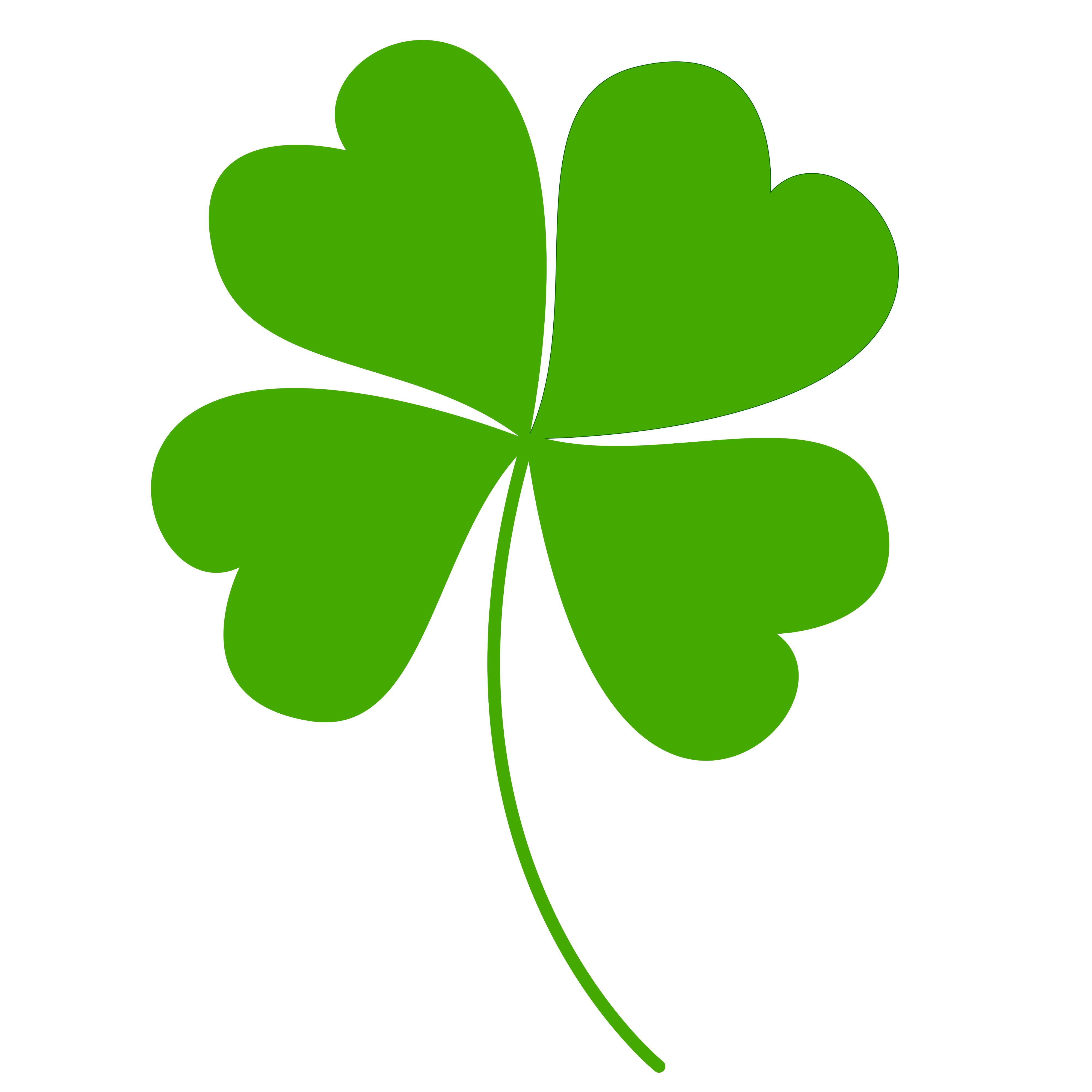 Free Clipart Of A Green St Paddys Day Shamrock Four Leaf