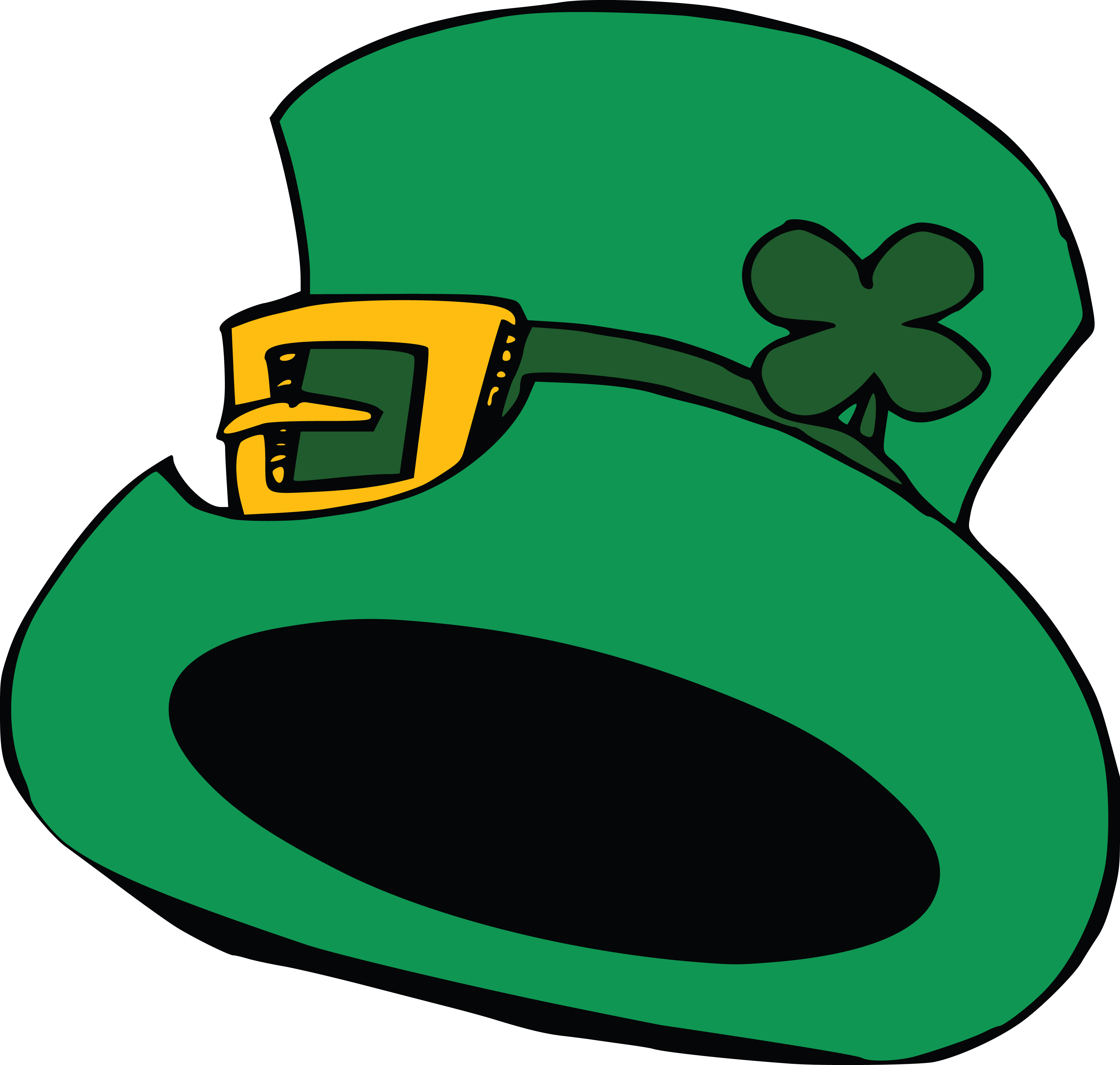 Clipart Of A St Patricks Day Leprechaun Hat