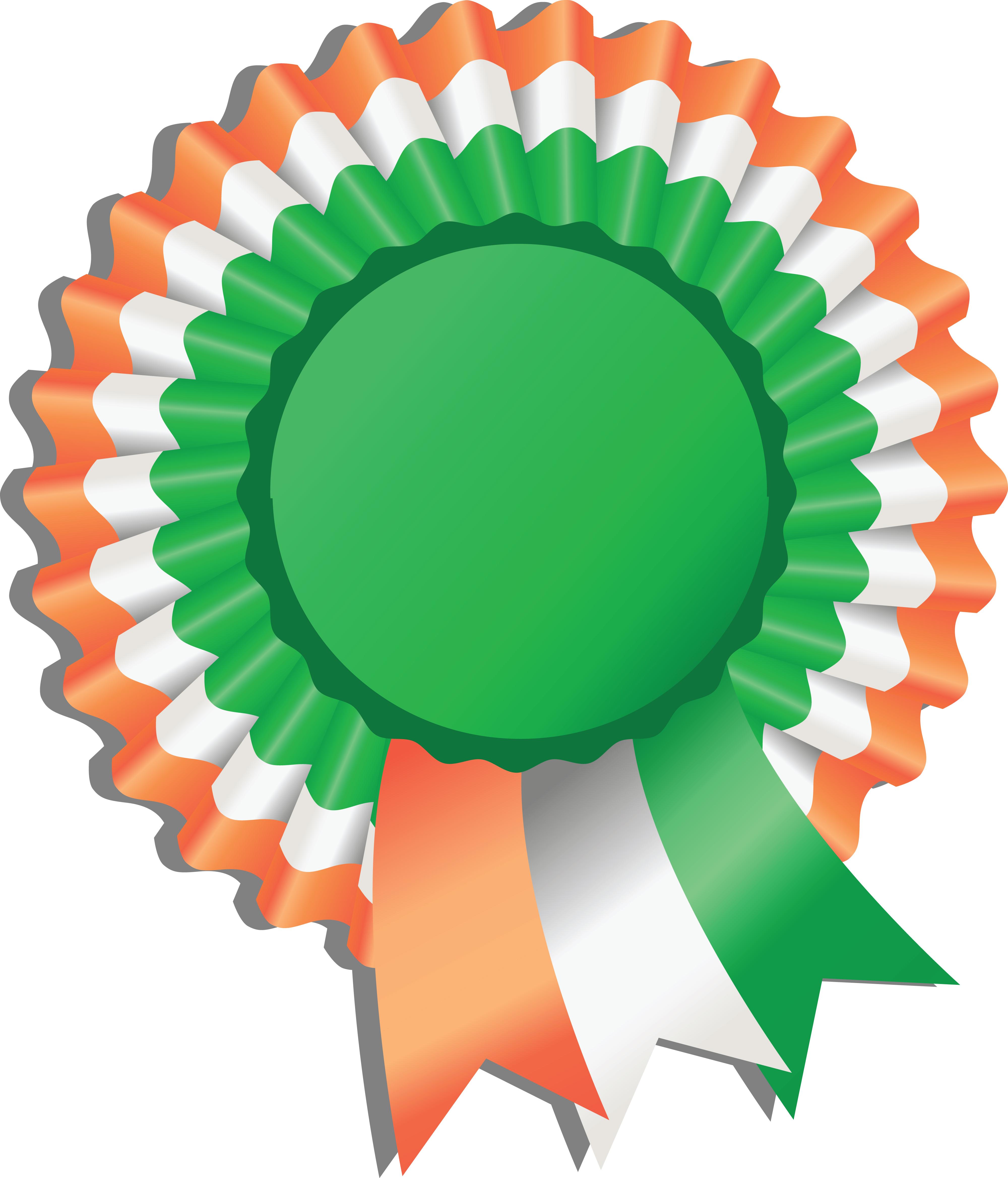 Free Clipart Of A St Paddy's Day Irish Ribbon Award