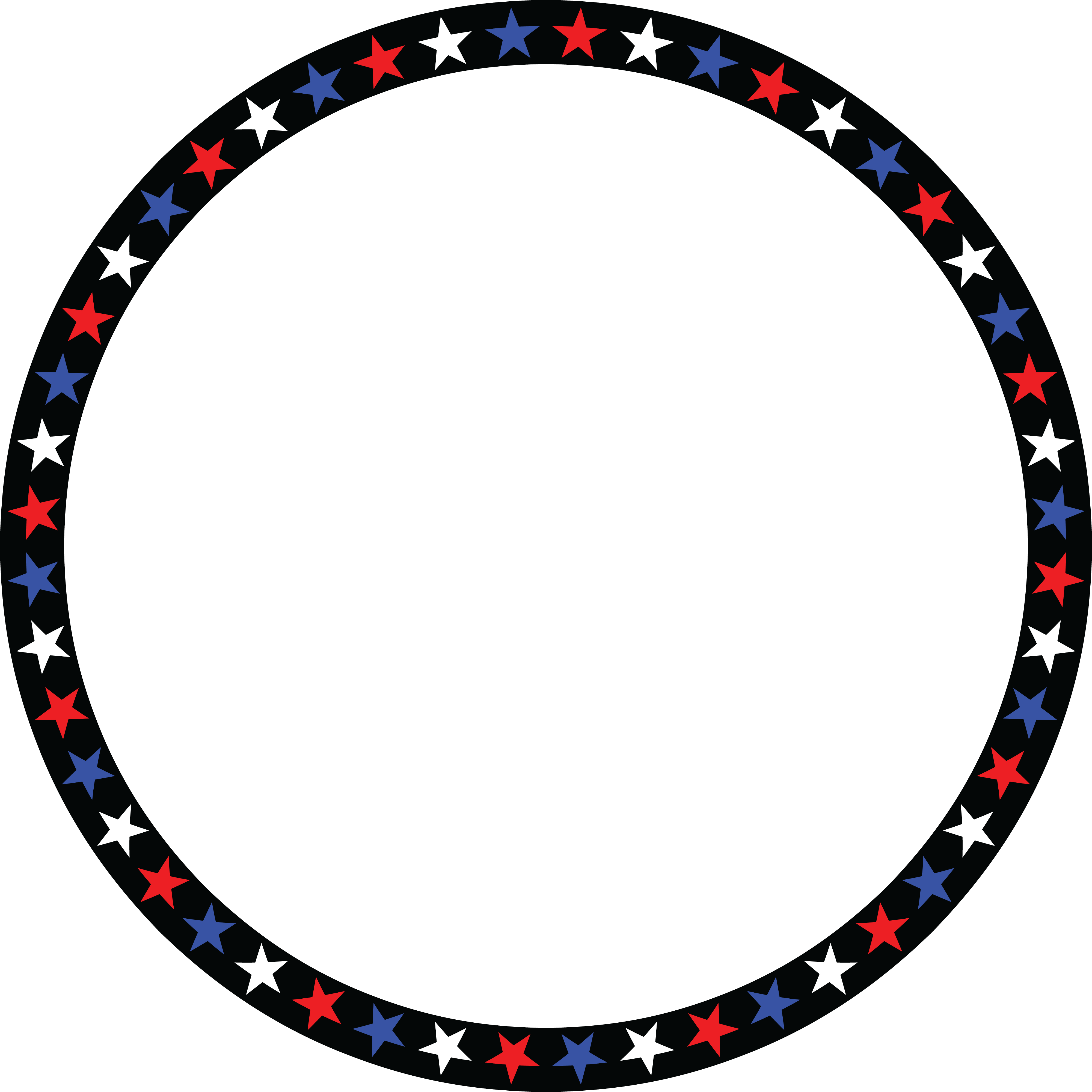 Free Clipart Of A Patriotic American Star Patterned Circle