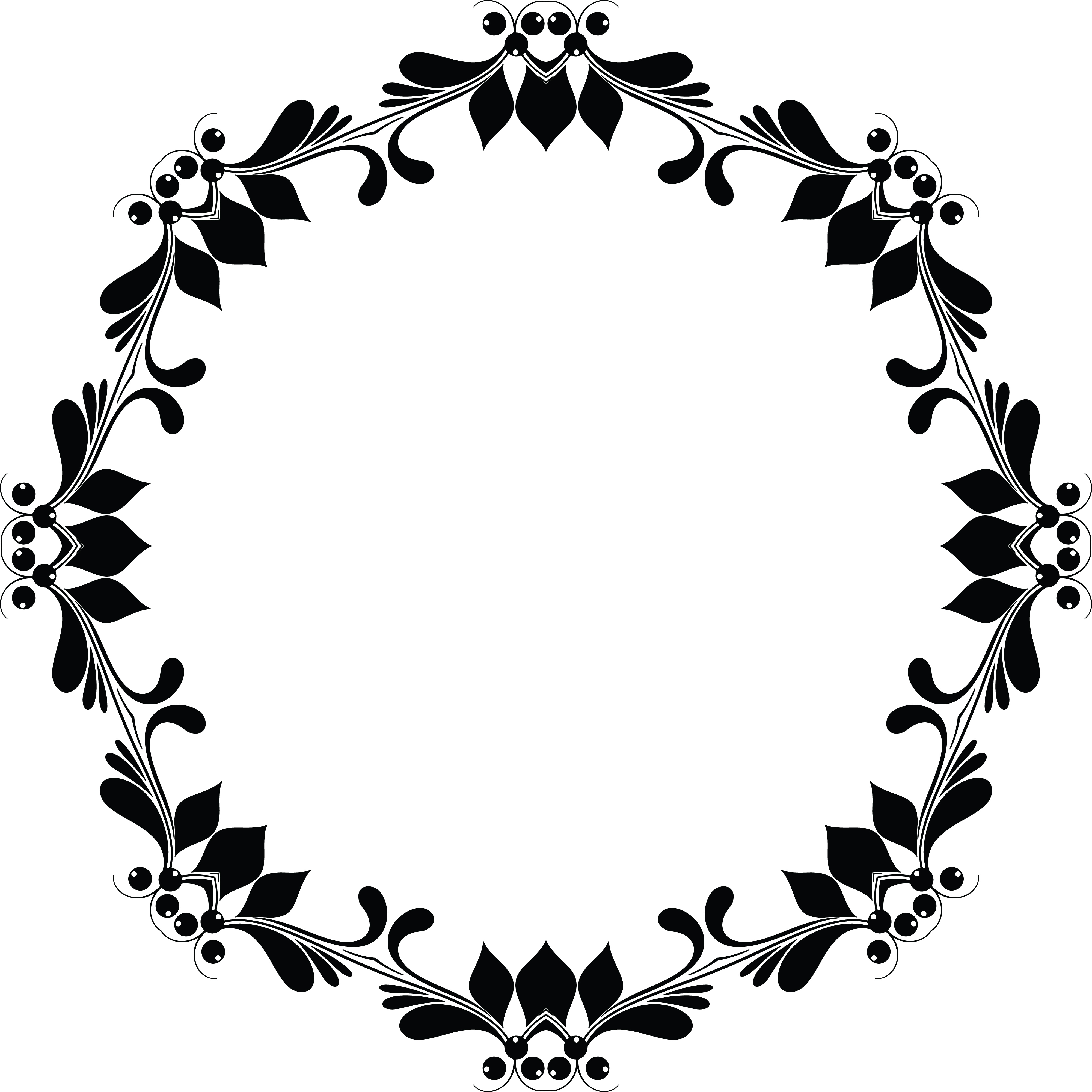 Free Clipart Of A Floral Frame