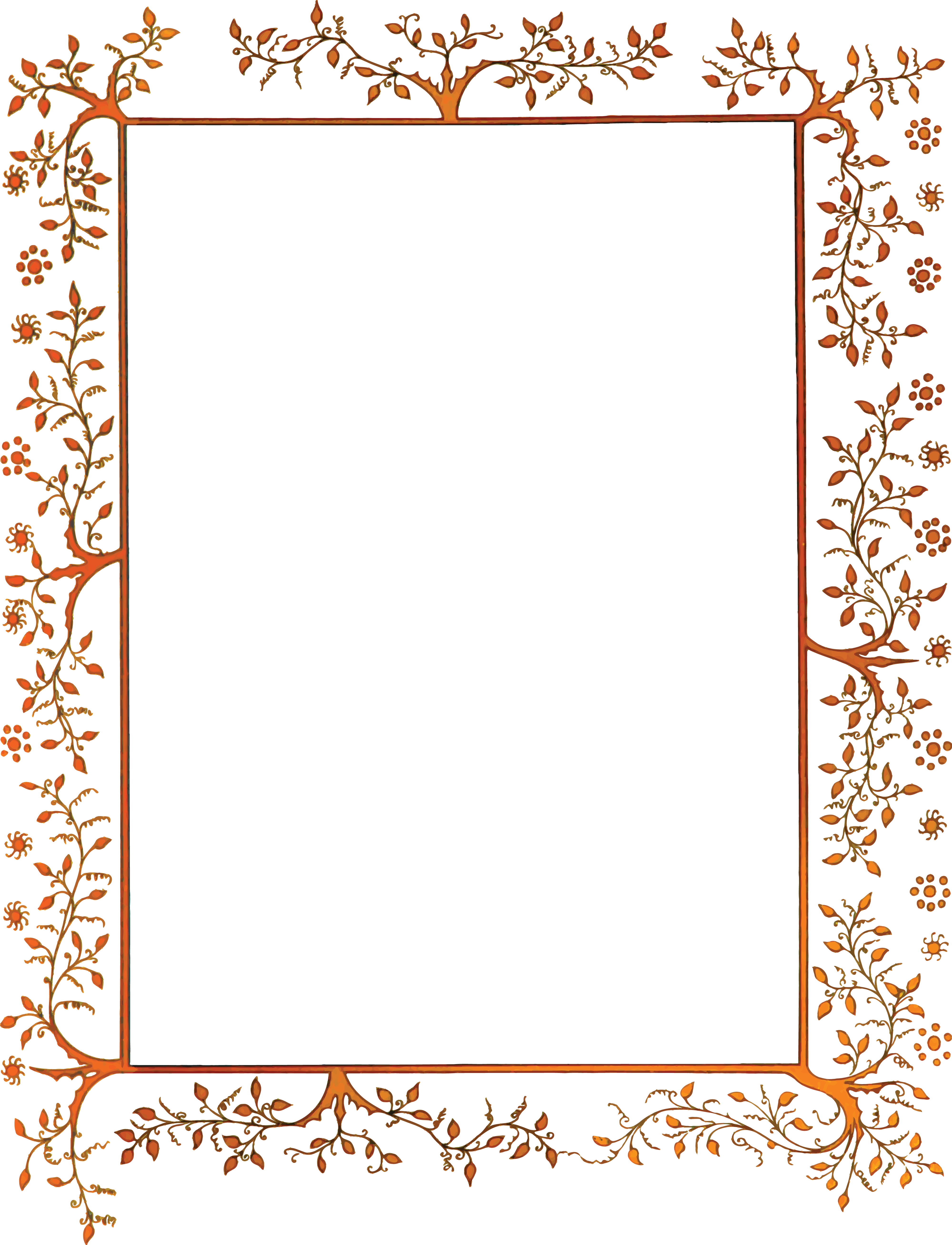 Free Clipart Of A Vintage Floral Decorative Border 00012058