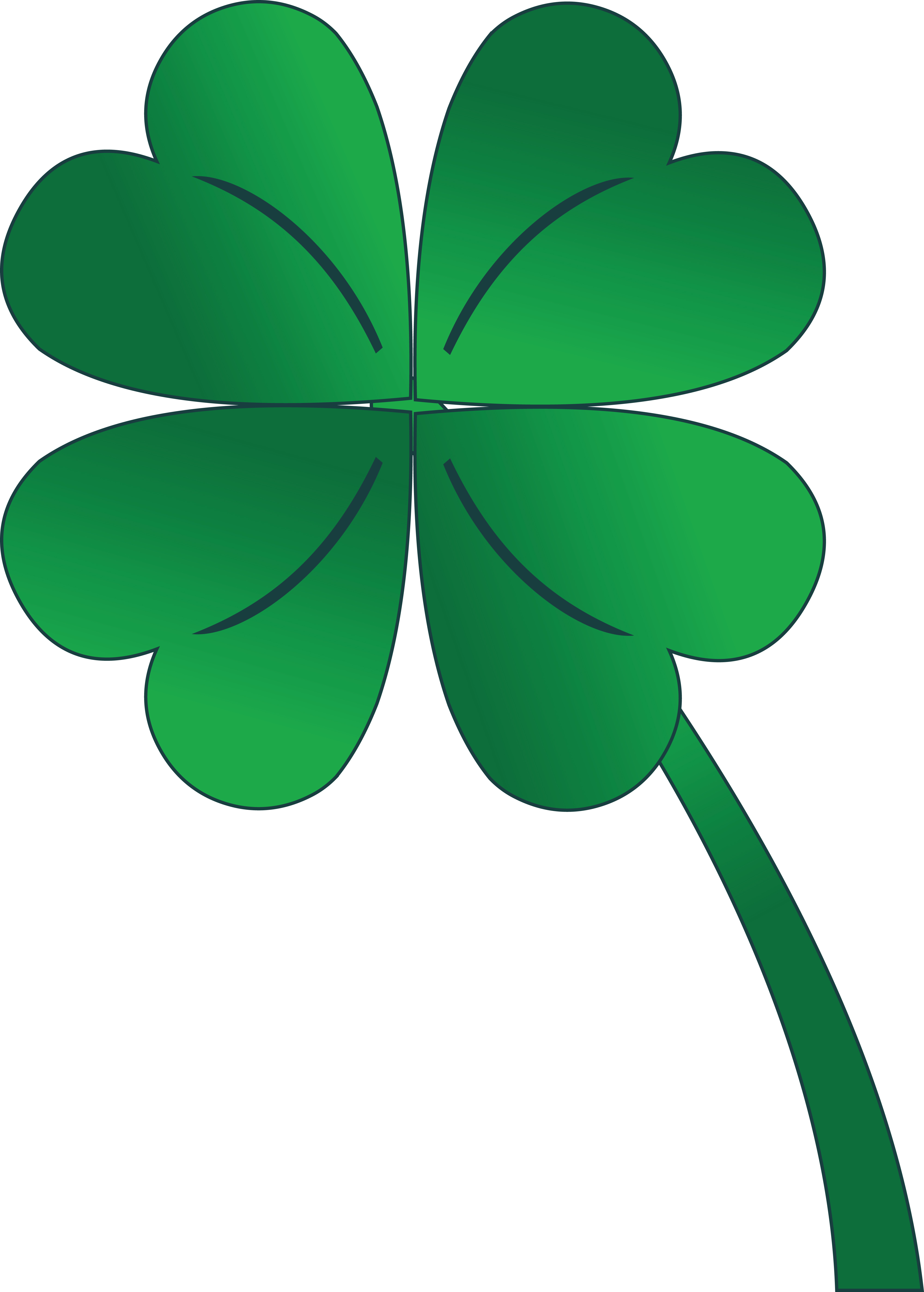 Clipart Of A St Paddy's Day 4 Leaf Clover Shamrock