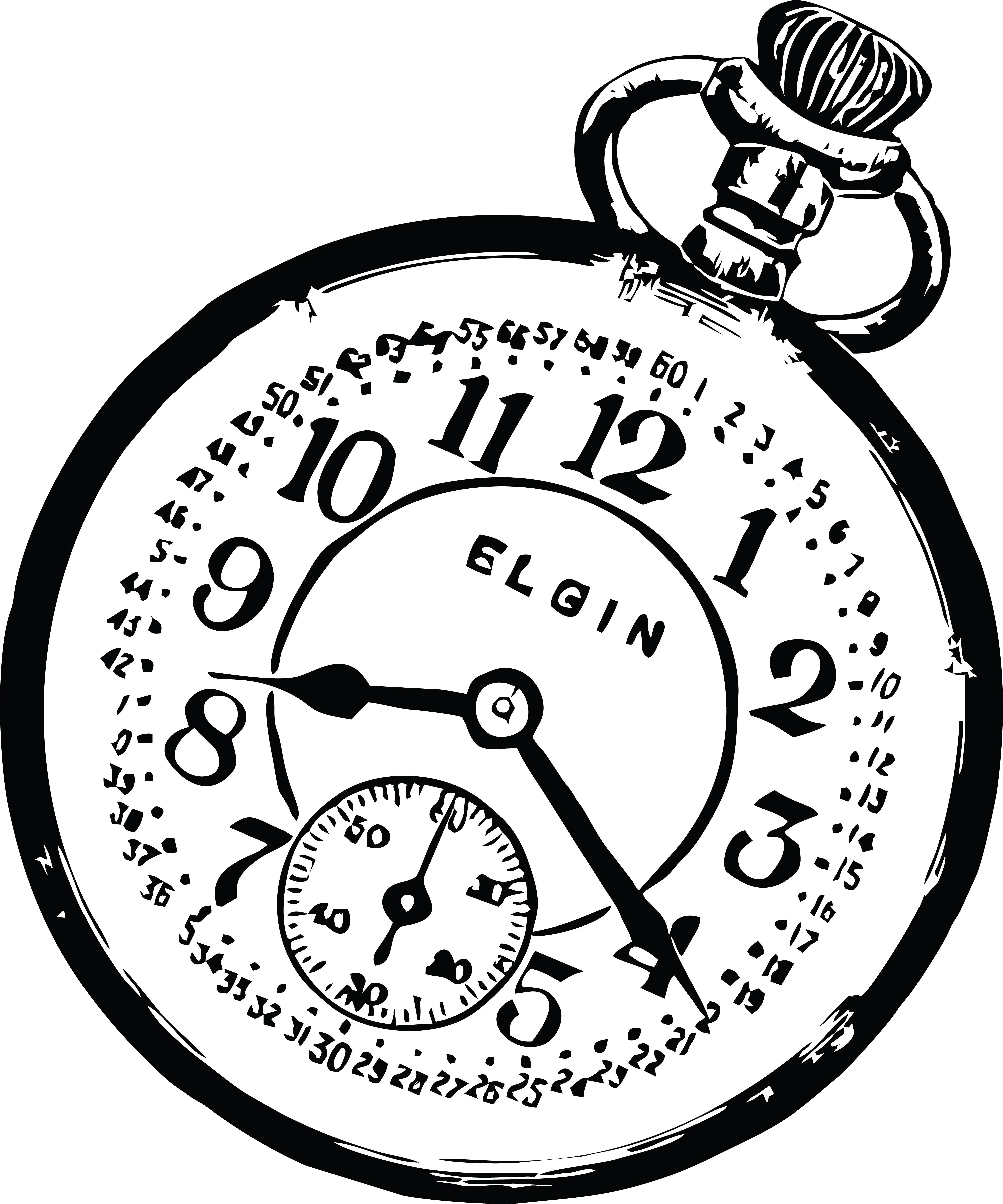 free clipart of a pocketwatch rh free clipartof com pocket watch face clip art broken pocket watch clipart