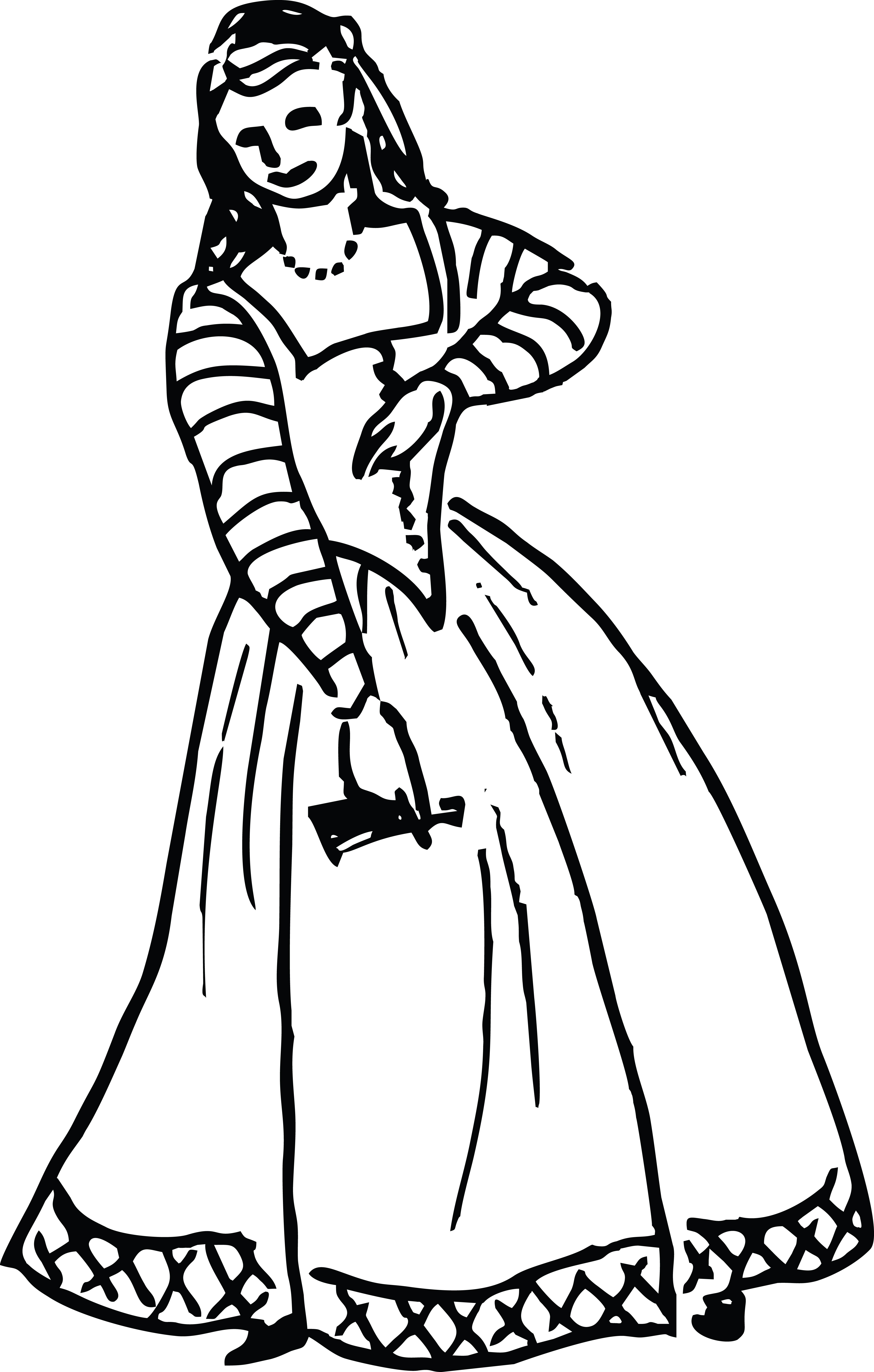 Free Clipart Of A Vintage Woman