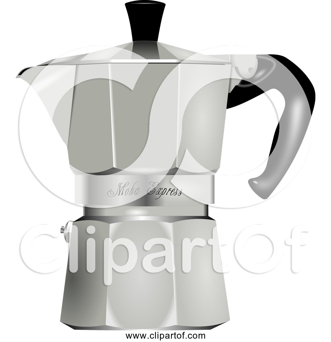 Free Clipart Of A Metal Italian Coffee Maker