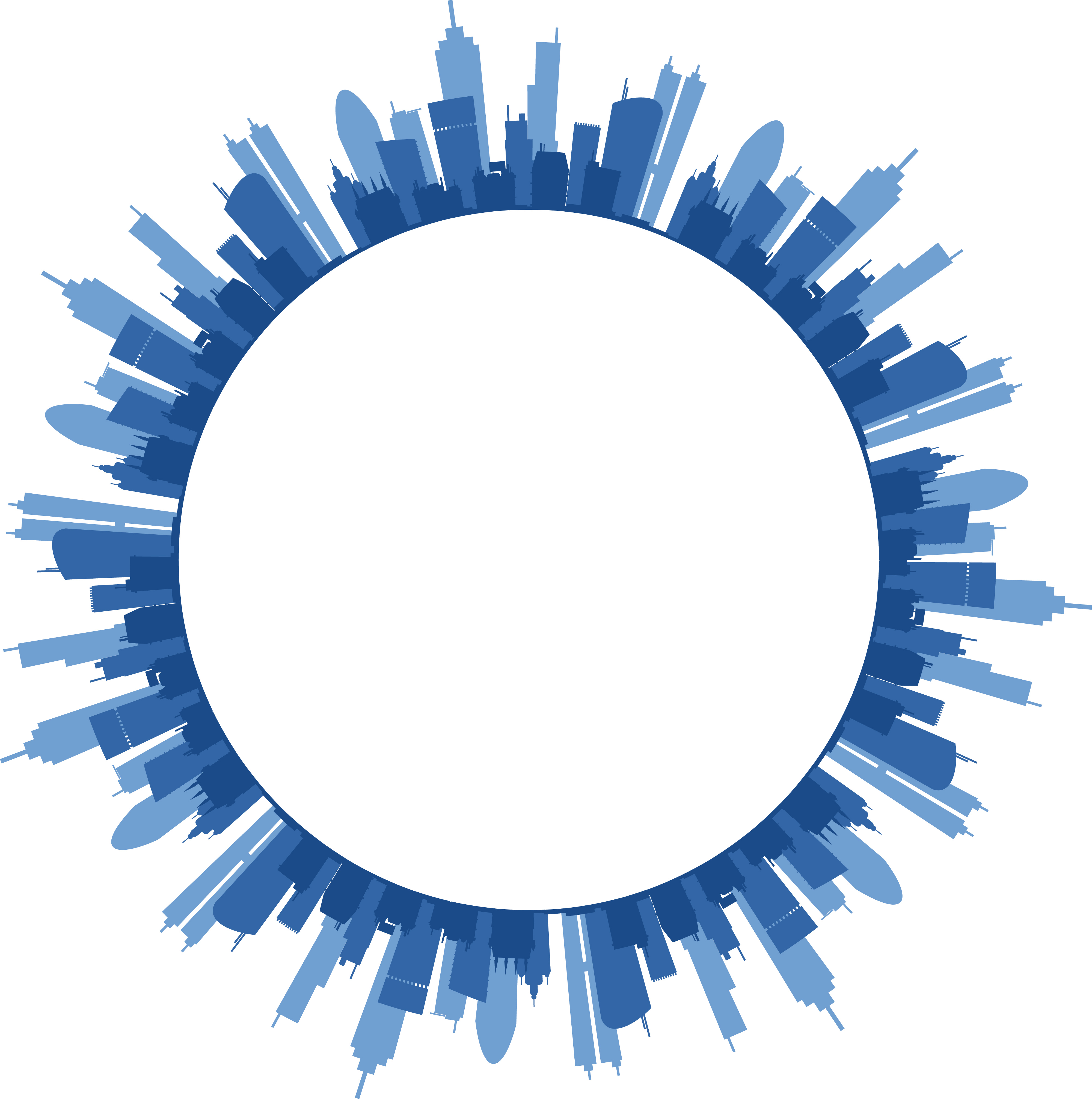 Truly Free Clipart Of A circular frame with text space and blue ...