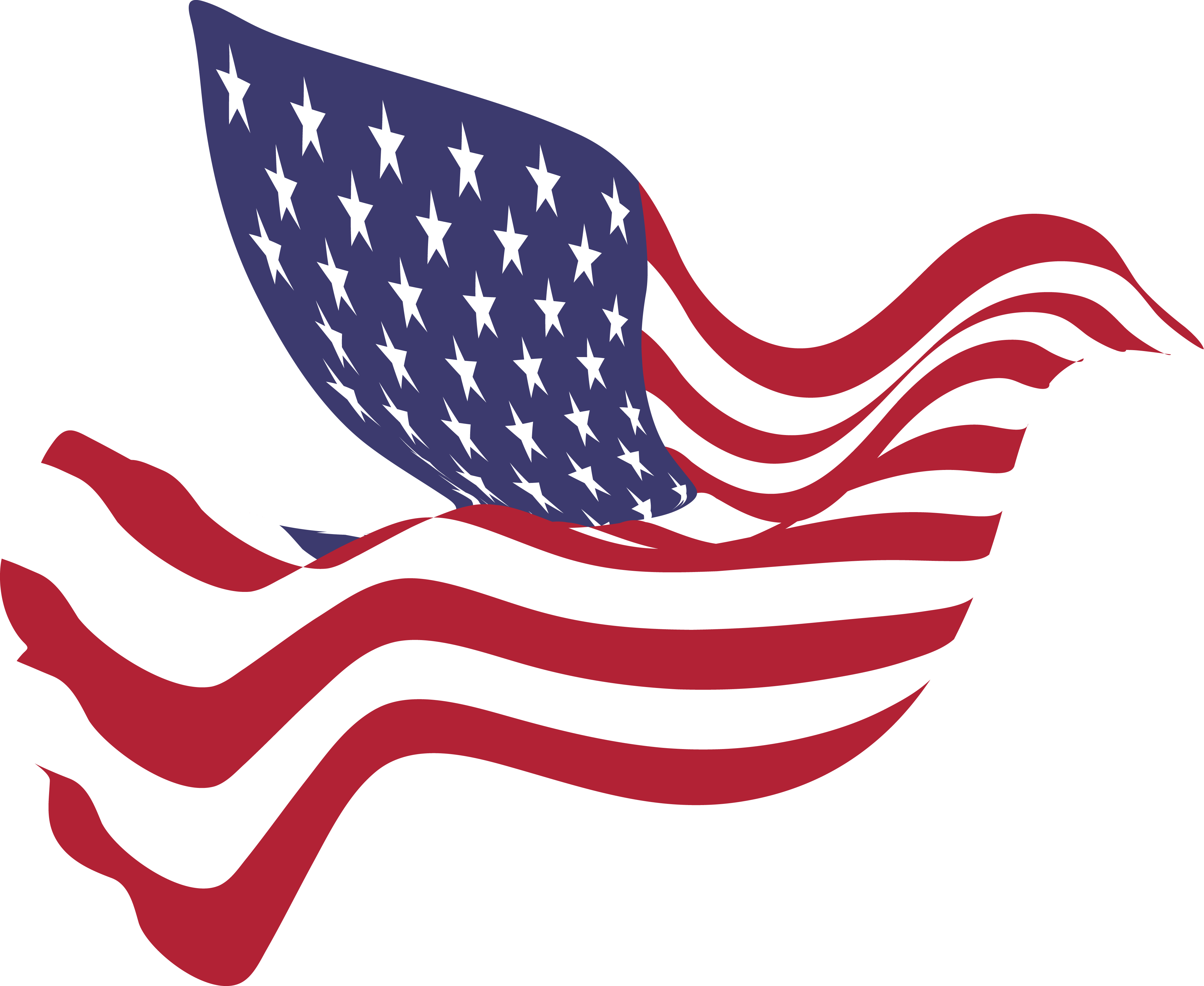 free clipart of a peace dove with an american flag pattern rh free clipartof com us flag free clipart american flag border clip art free
