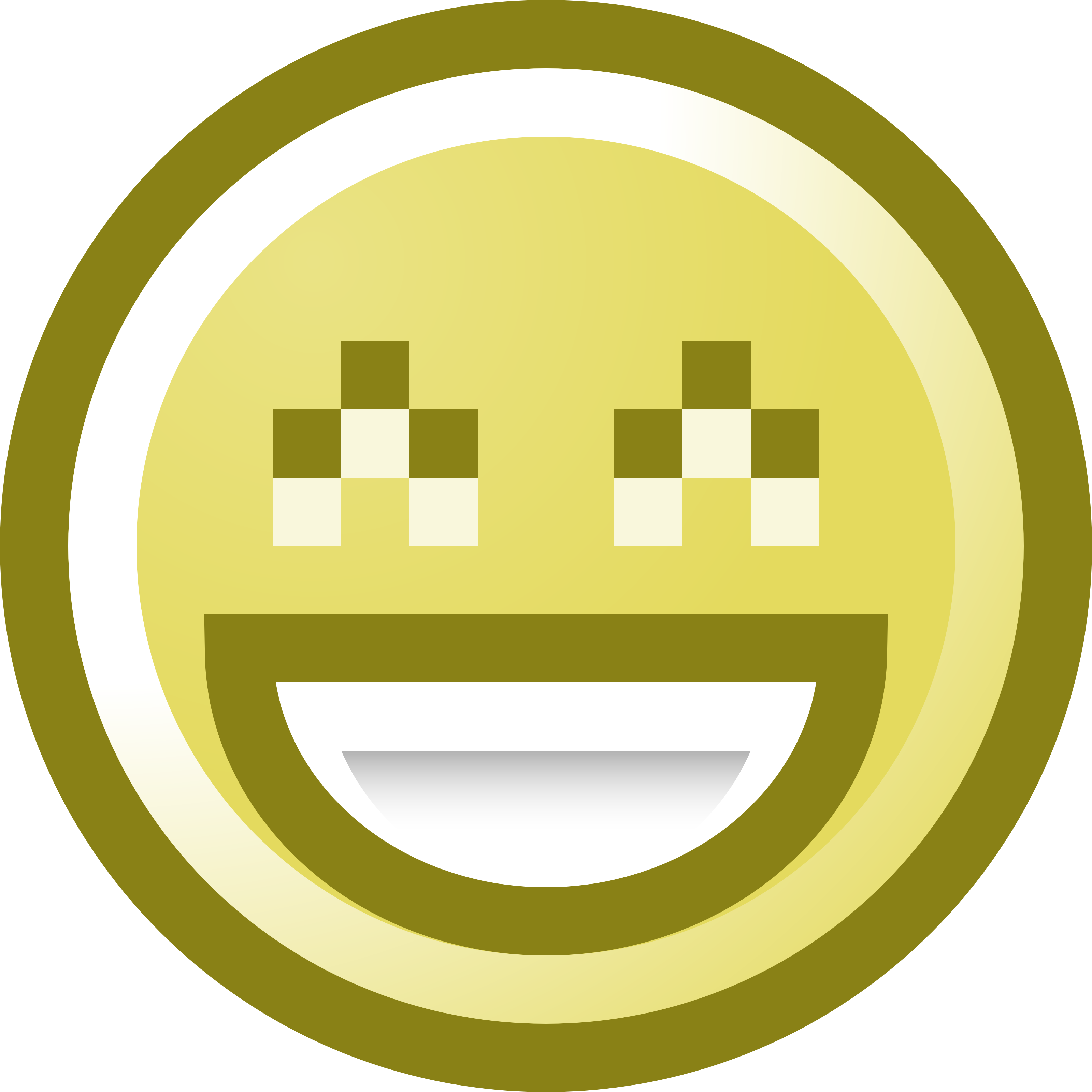 This free smiley face was rendered to portray a smiling person.