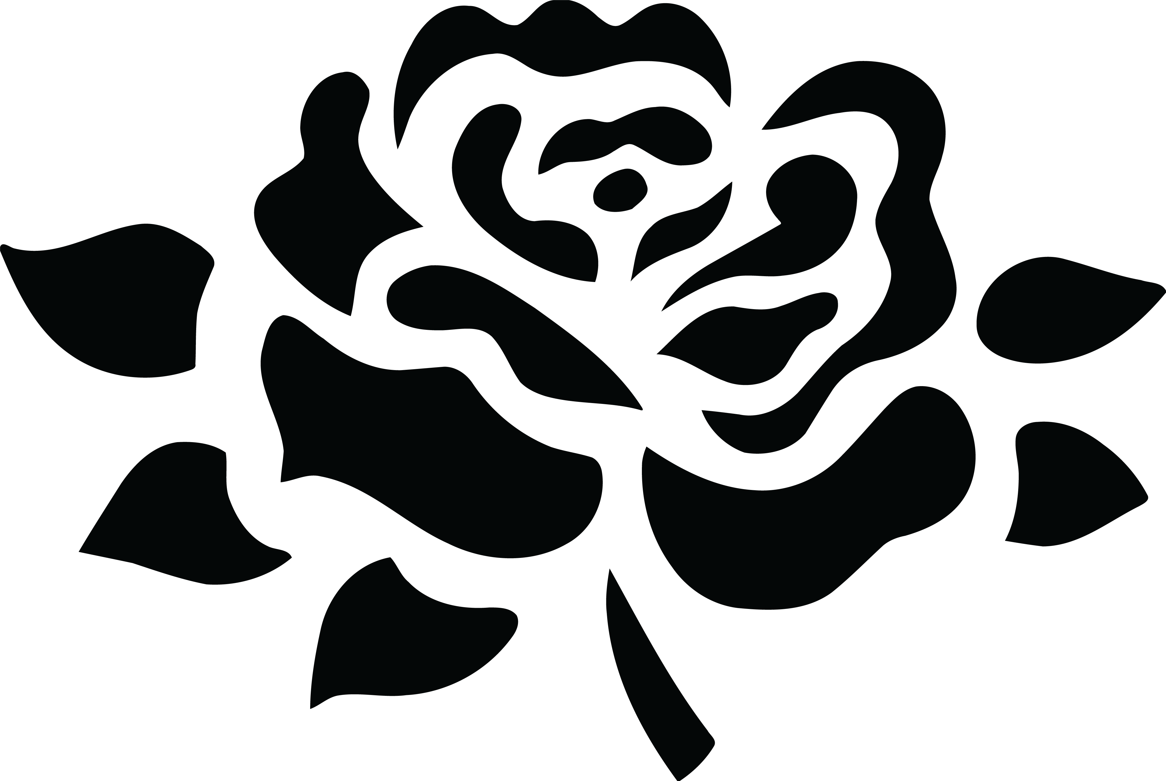 free clipart of a black and white fully bloomed rose rh free clipartof com rose border black and white clipart rose border black and white clipart