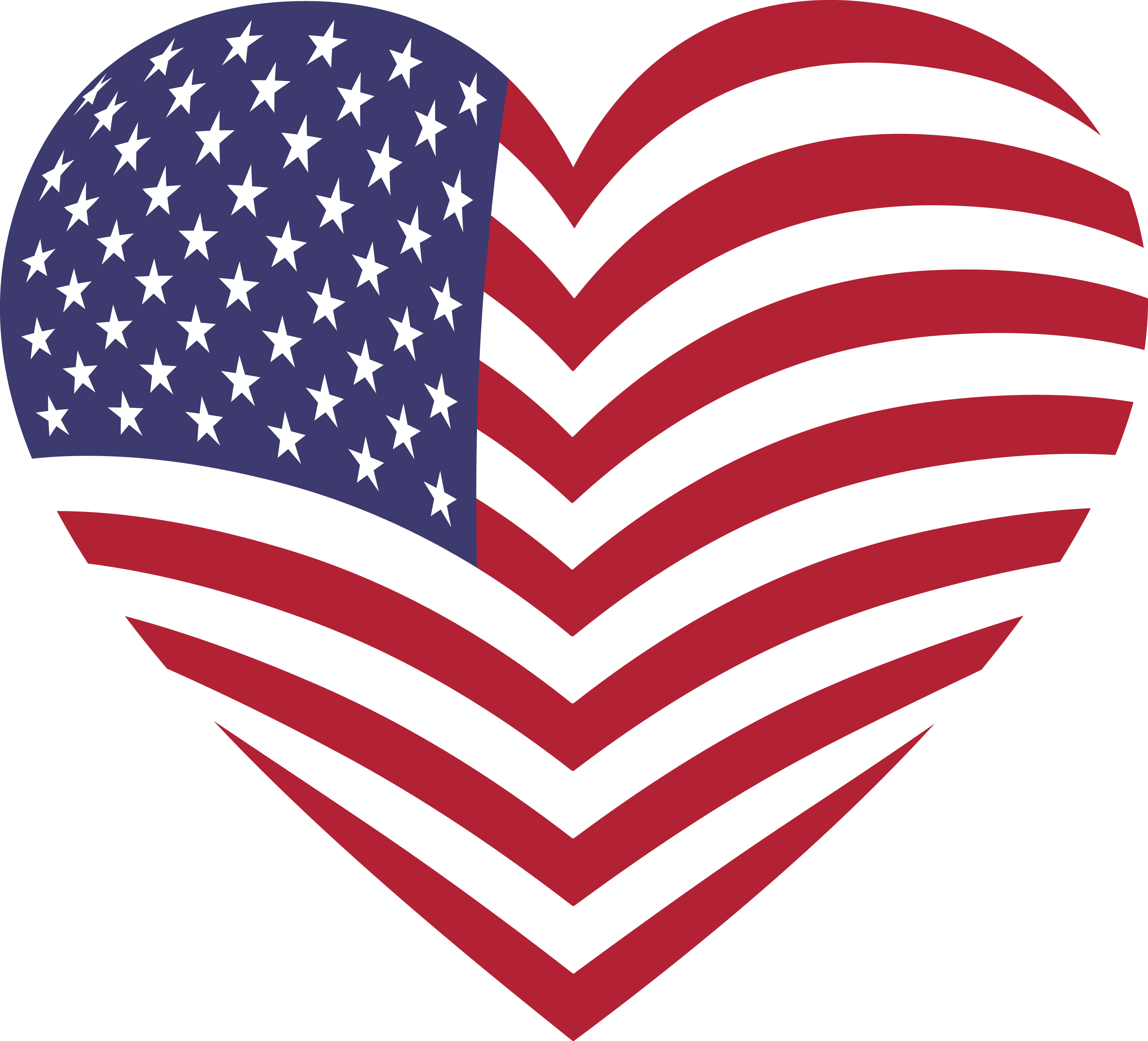 free clipart of a heart with an american flag pattern rh free clipartof com free clip art american flag border free clipart american flag no fee