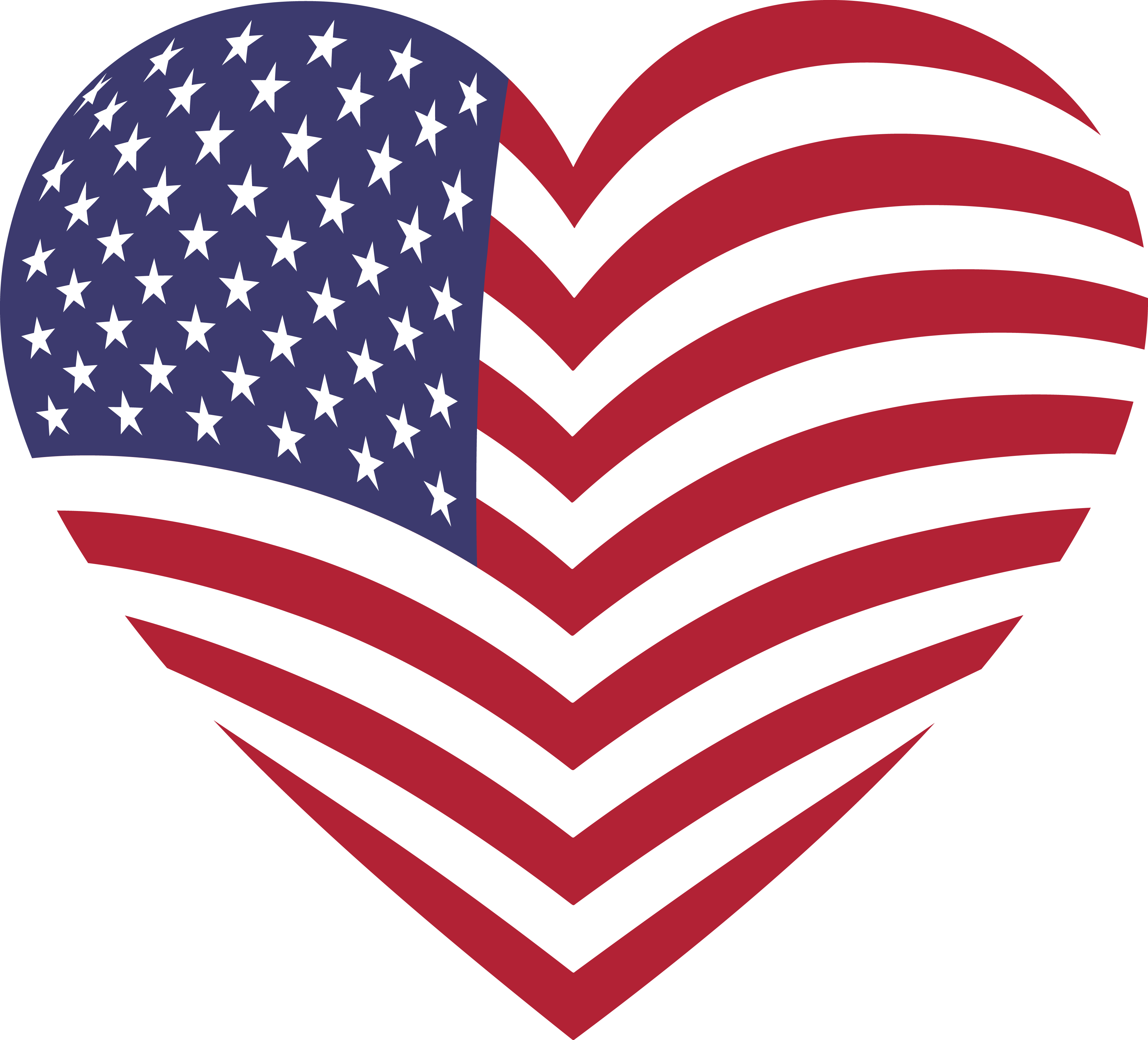 free clipart of a heart with an american flag pattern rh free clipartof com american flag clip art free download free american flag clip art black and white