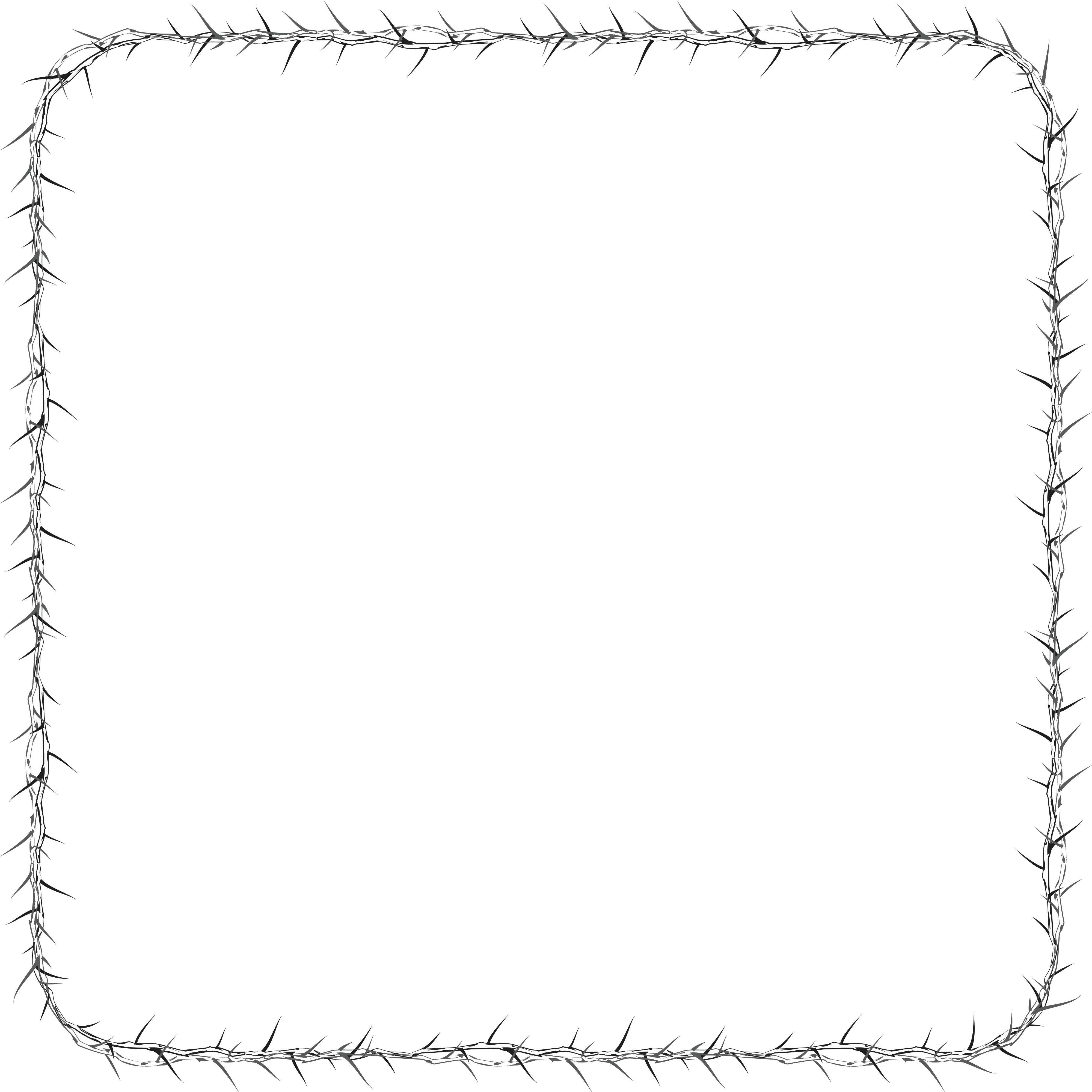 Free Clipart Of A square frame made of thorns