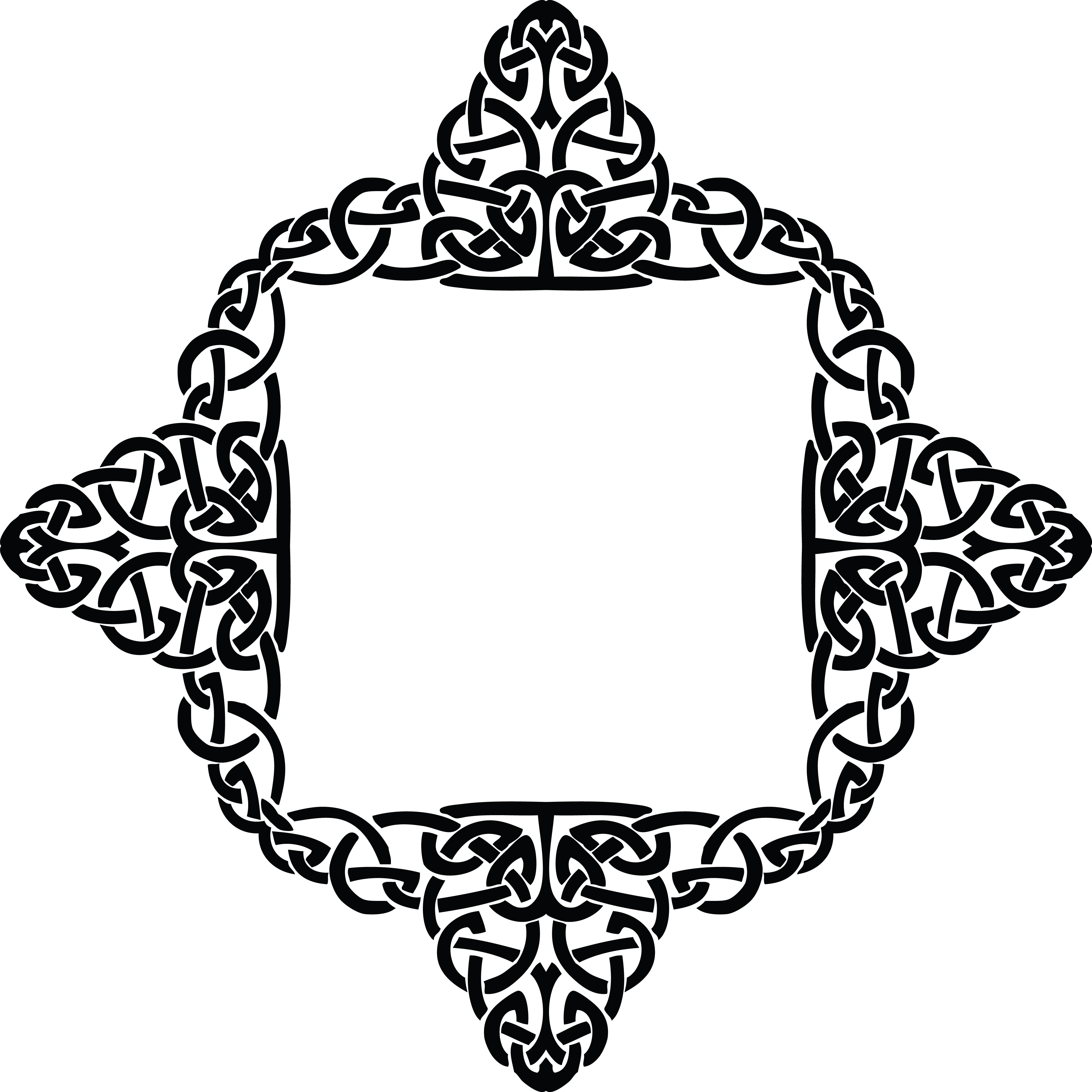 Free Clipart of a celtic diamond frame border design element in ...