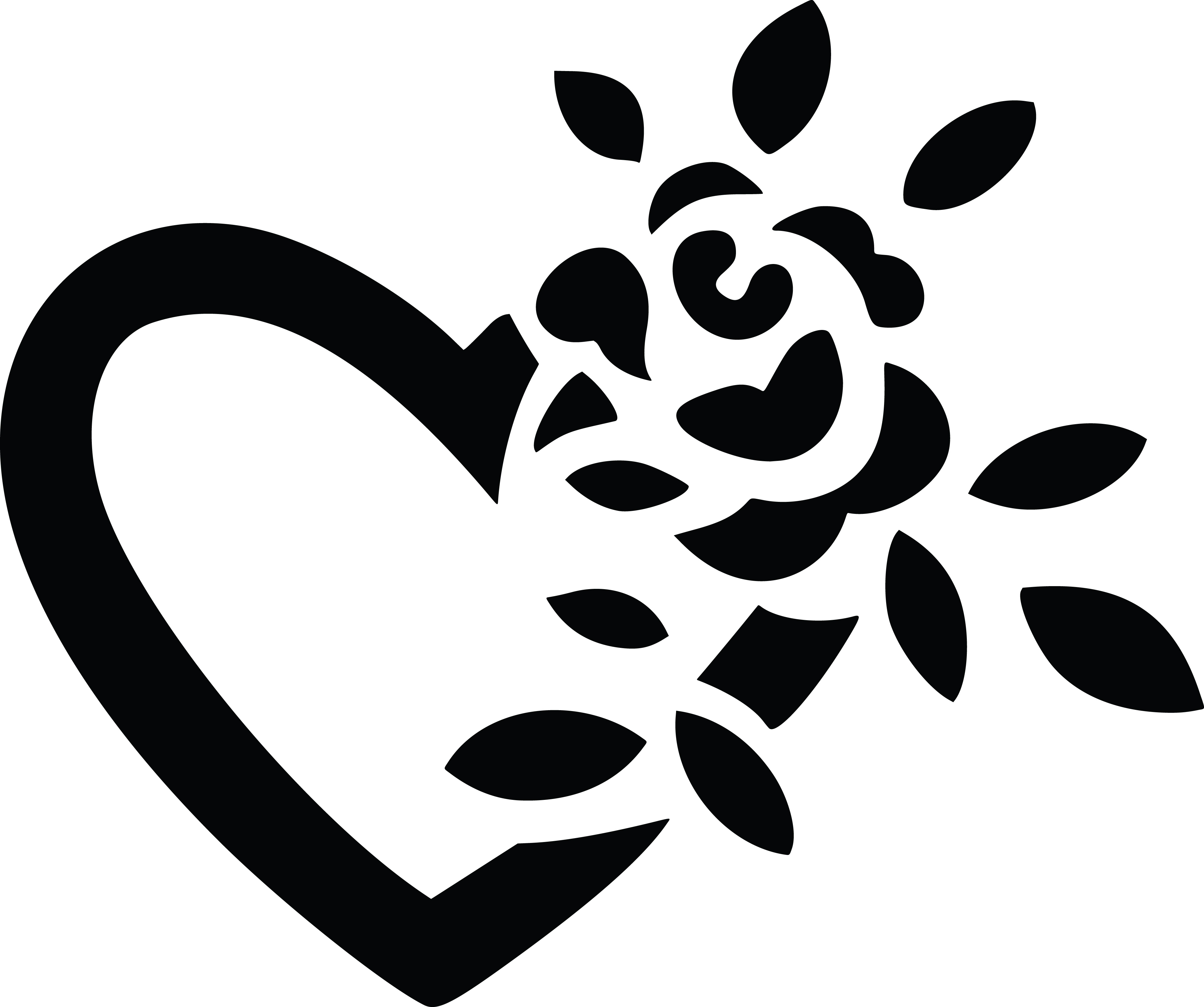 Clipart of a black and white fully bloomed rose and love heart free clipart of a black and white fully bloomed rose and love heart buycottarizona Gallery